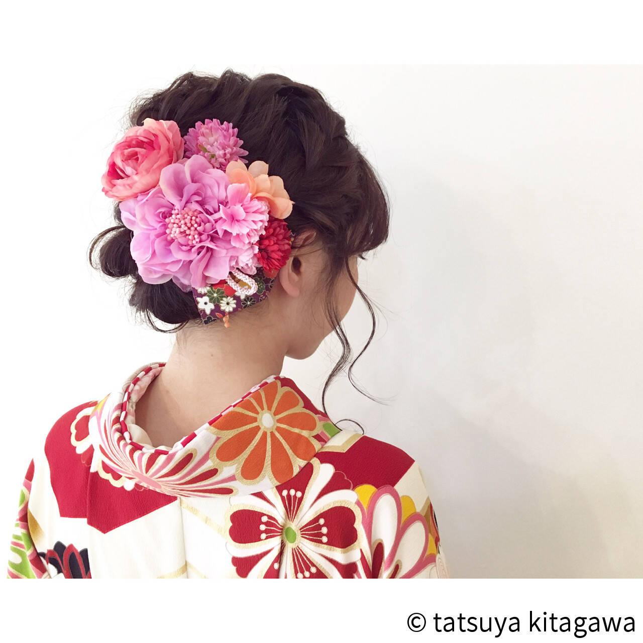 二次会 花嫁 謝恩会 ヘアアレンジヘアスタイルや髪型の写真・画像