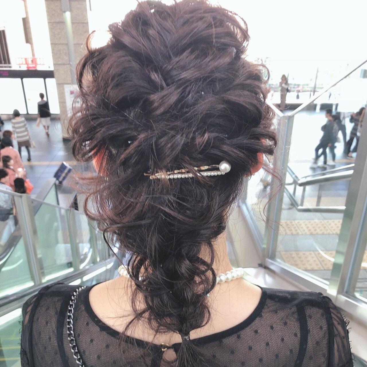 結婚式ヘアアレンジ ふわふわヘアアレンジ ヘアアレンジ セルフヘアアレンジヘアスタイルや髪型の写真・画像