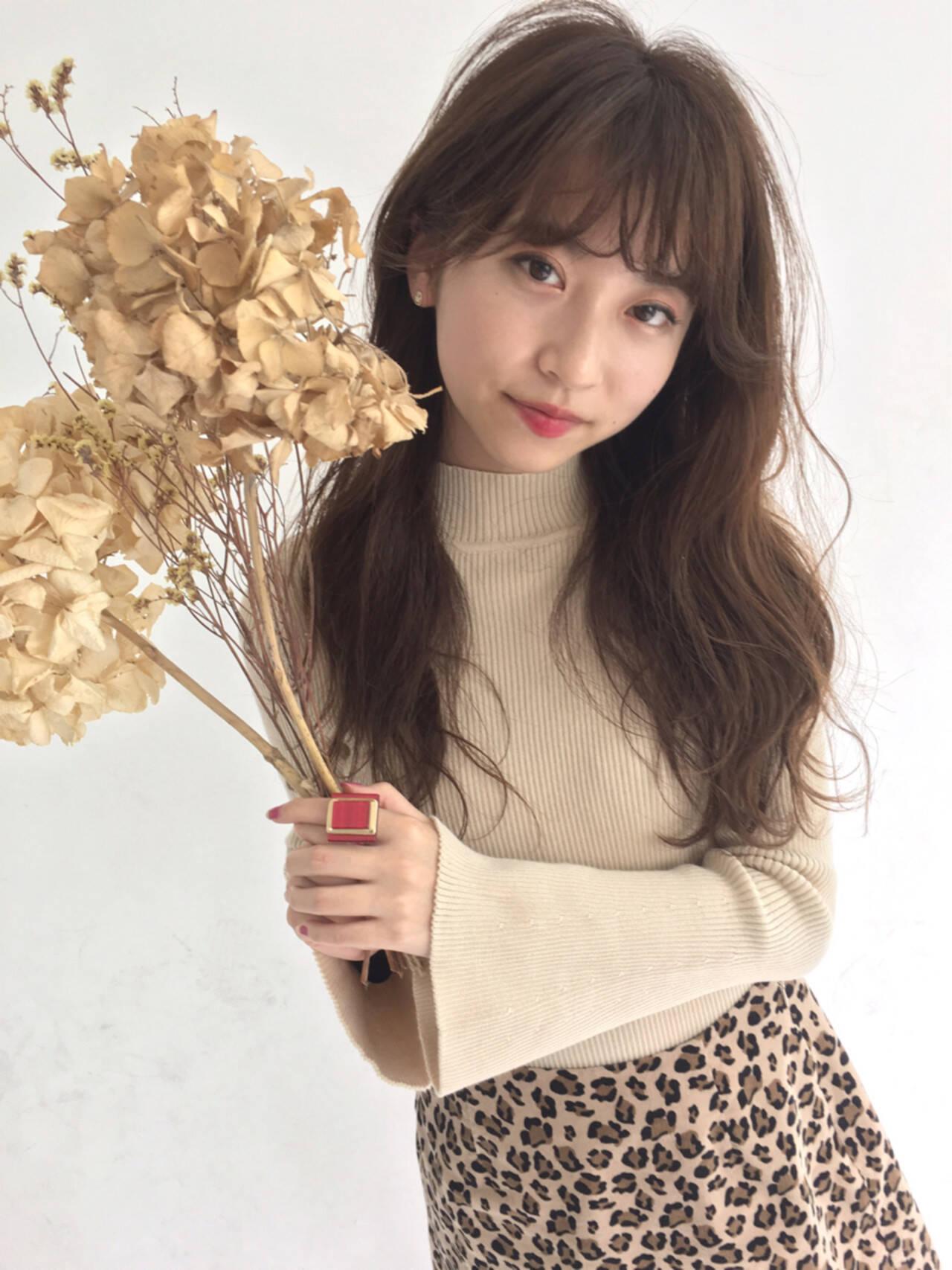女子力 秋 フェミニン ウェーブヘアスタイルや髪型の写真・画像