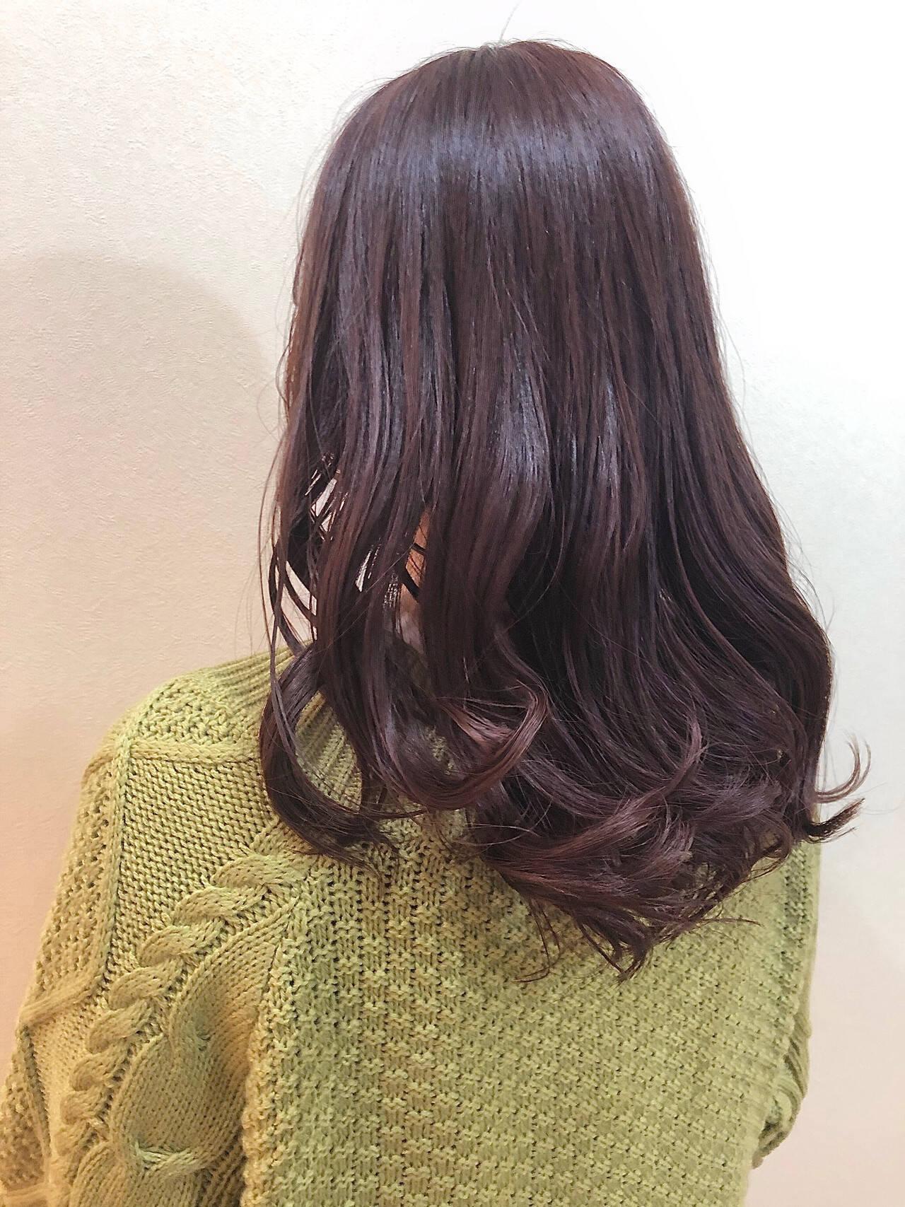 パープル ブルーラベンダー ブルーバイオレット コンサバヘアスタイルや髪型の写真・画像