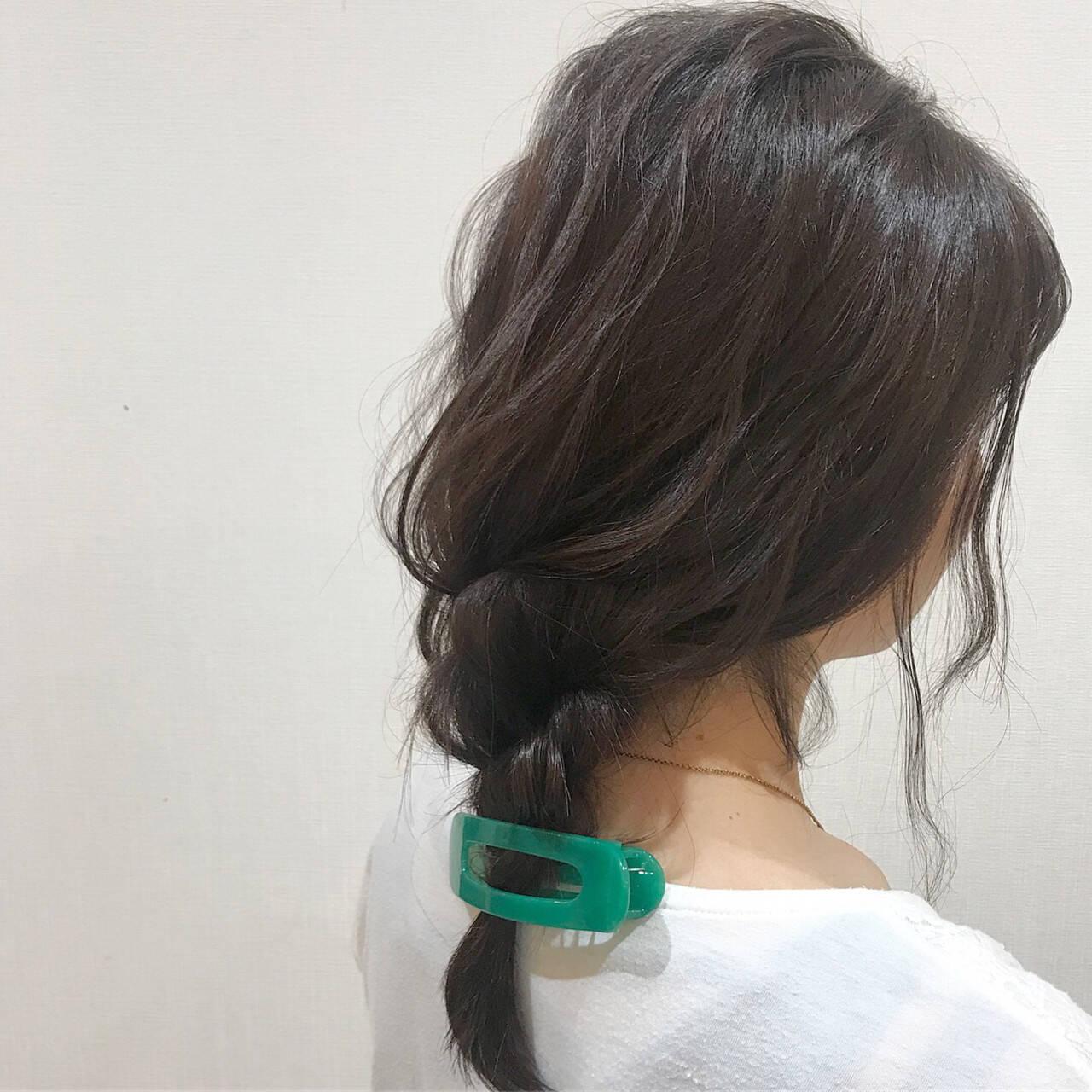 簡単ヘアアレンジ ヘアアレンジ 三つ編み ガーリーヘアスタイルや髪型の写真・画像