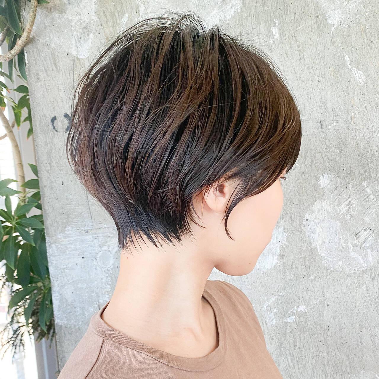 ナチュラル ショート ショートカット ショートヘアヘアスタイルや髪型の写真・画像