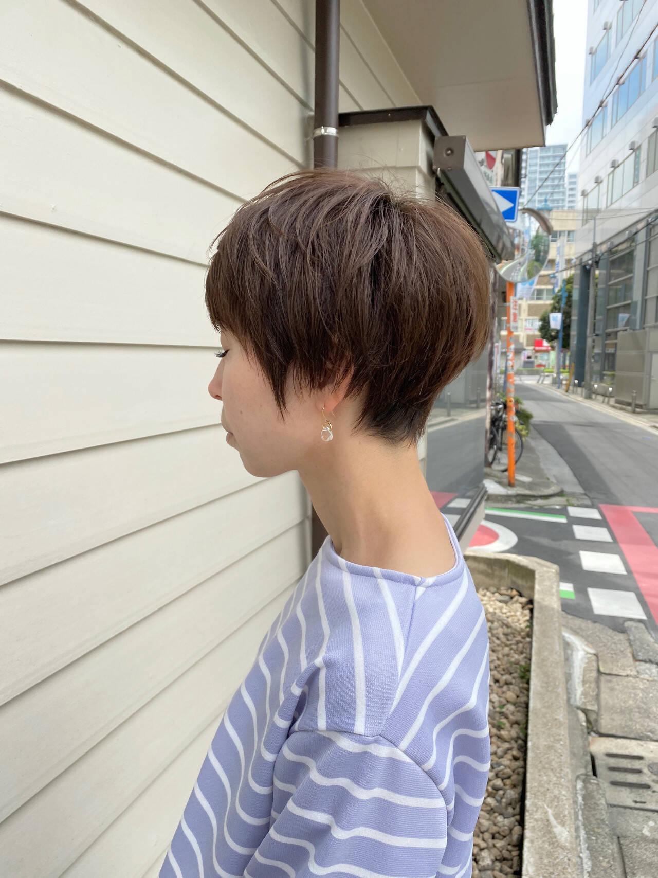 ミニボブ ショートヘア ベリーショート ショートヘアスタイルや髪型の写真・画像