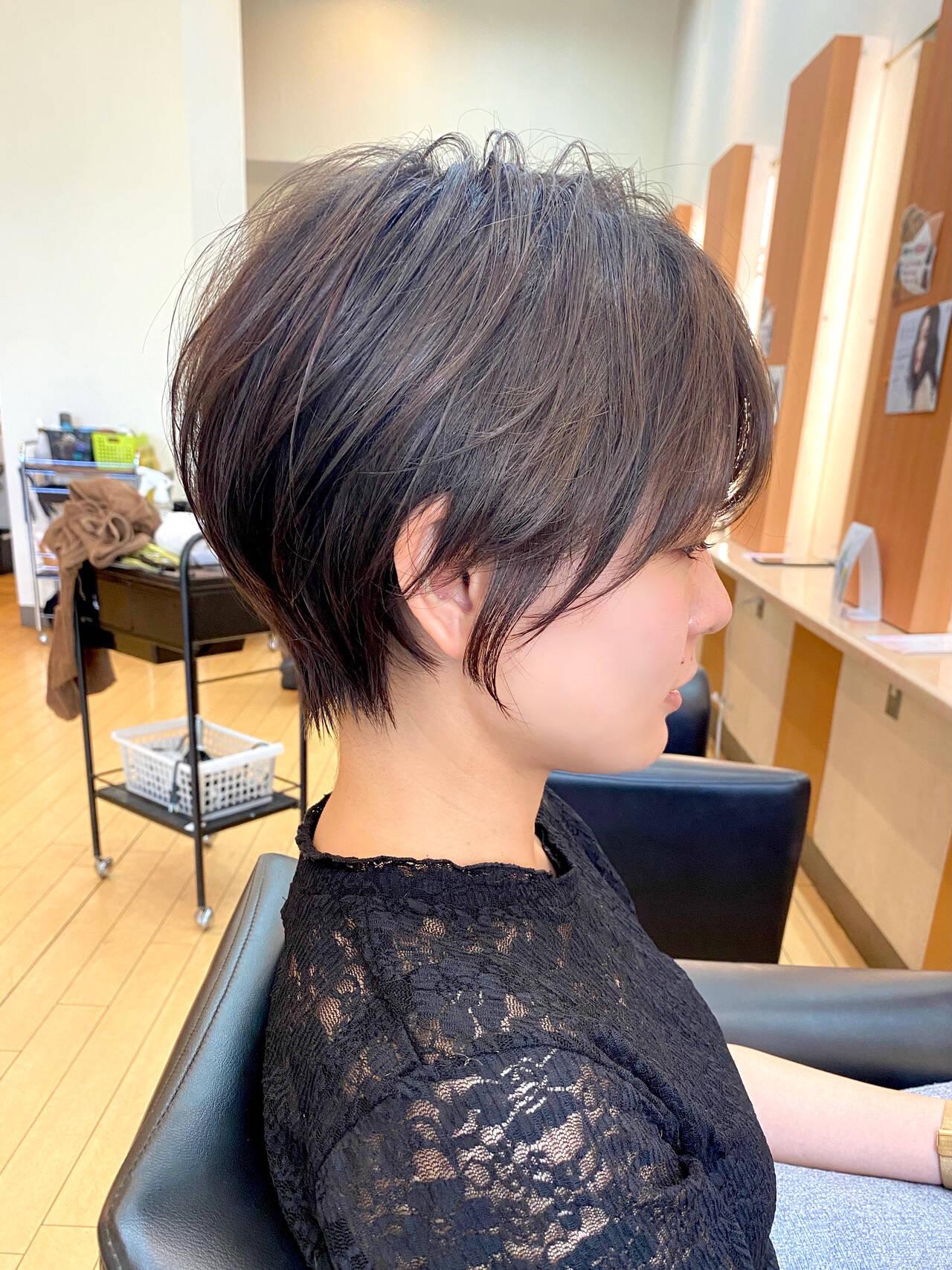 ショートヘア ショート 丸みショート 大人ショートヘアスタイルや髪型の写真・画像