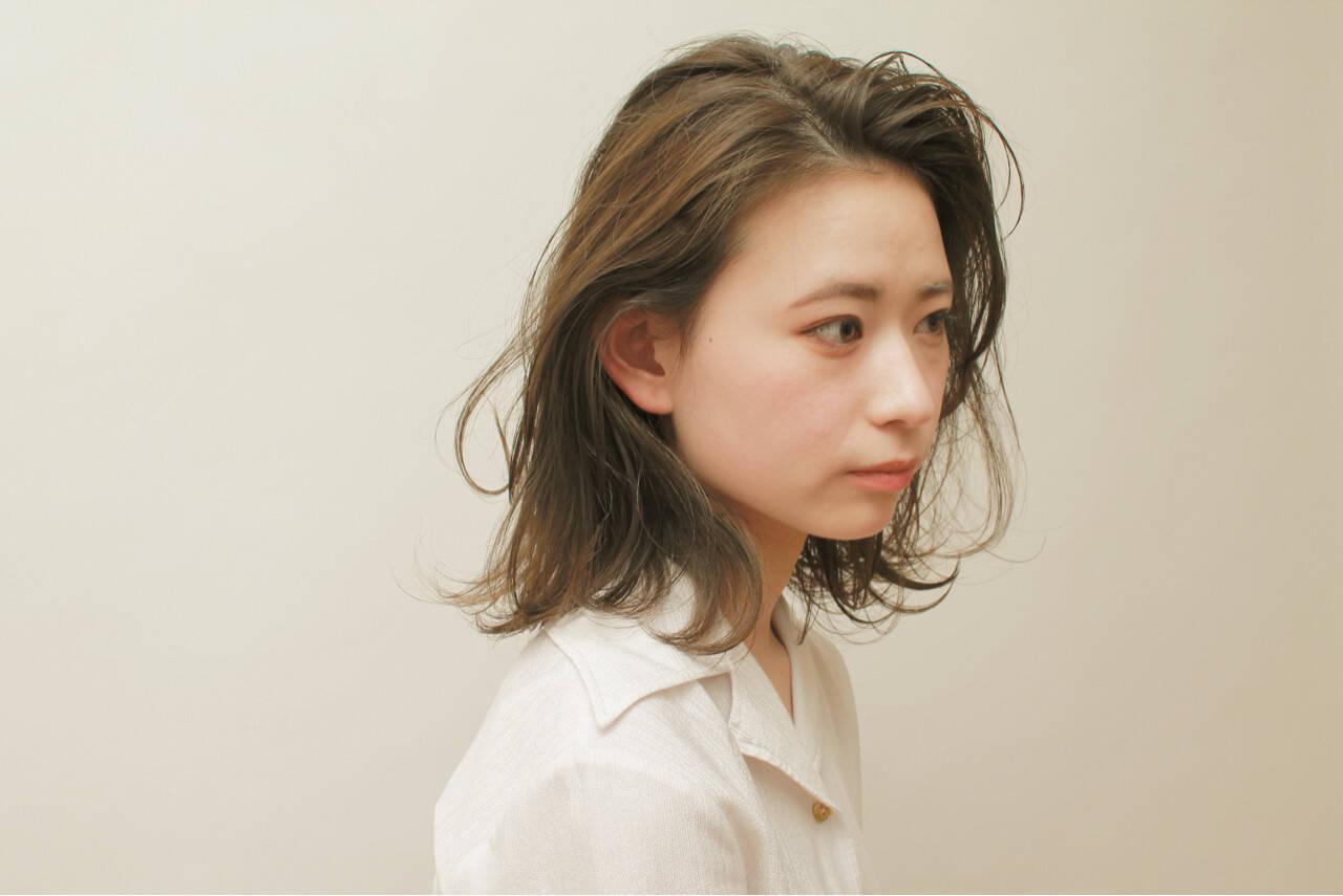 ミディアム 女子力 ナチュラル 簡単ヘアアレンジヘアスタイルや髪型の写真・画像