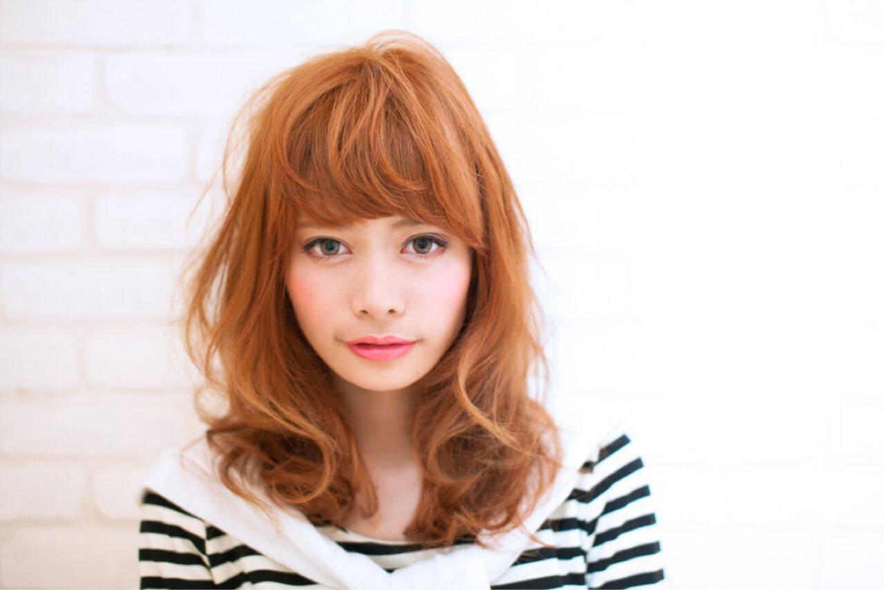 モテ髪 ガーリー ナチュラル フェミニンヘアスタイルや髪型の写真・画像