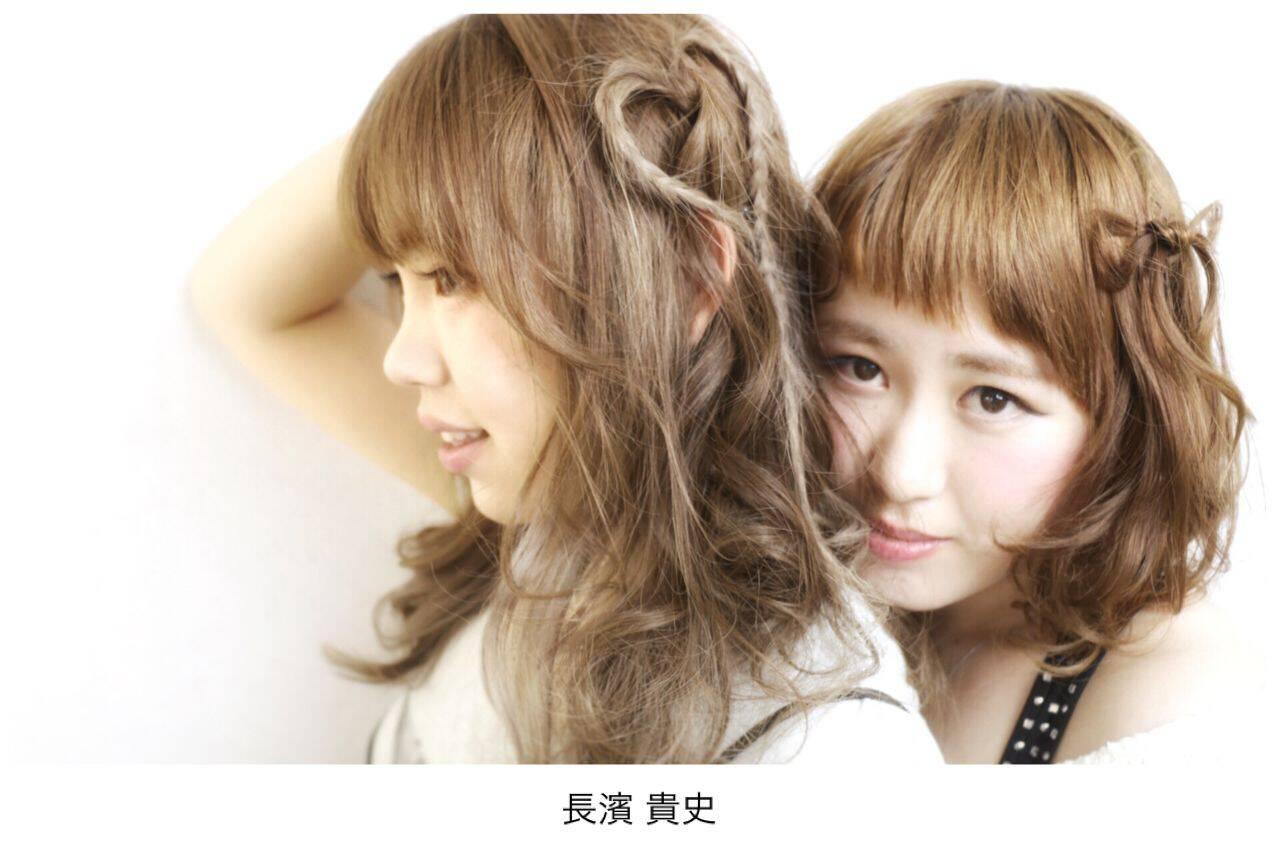 ロング ショート フェミニン 愛されヘアスタイルや髪型の写真・画像