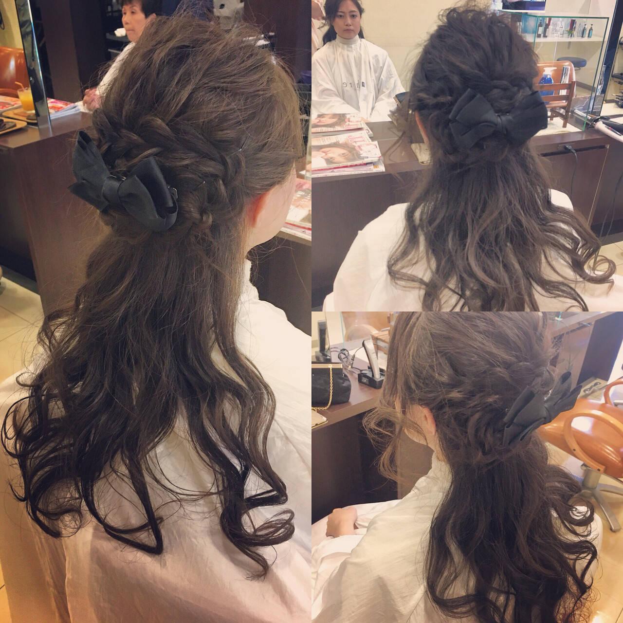 ヘアアレンジ フェミニン ロング 簡単ヘアアレンジヘアスタイルや髪型の写真・画像