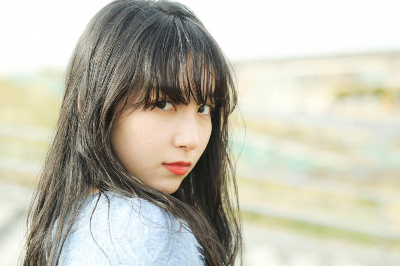 黒髪 フェミニン ヘアアレンジ ロングヘアスタイルや髪型の写真・画像