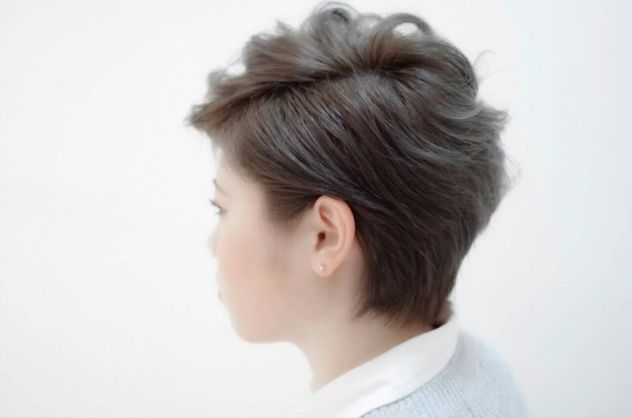 ショート モード ベリーショートヘアスタイルや髪型の写真・画像