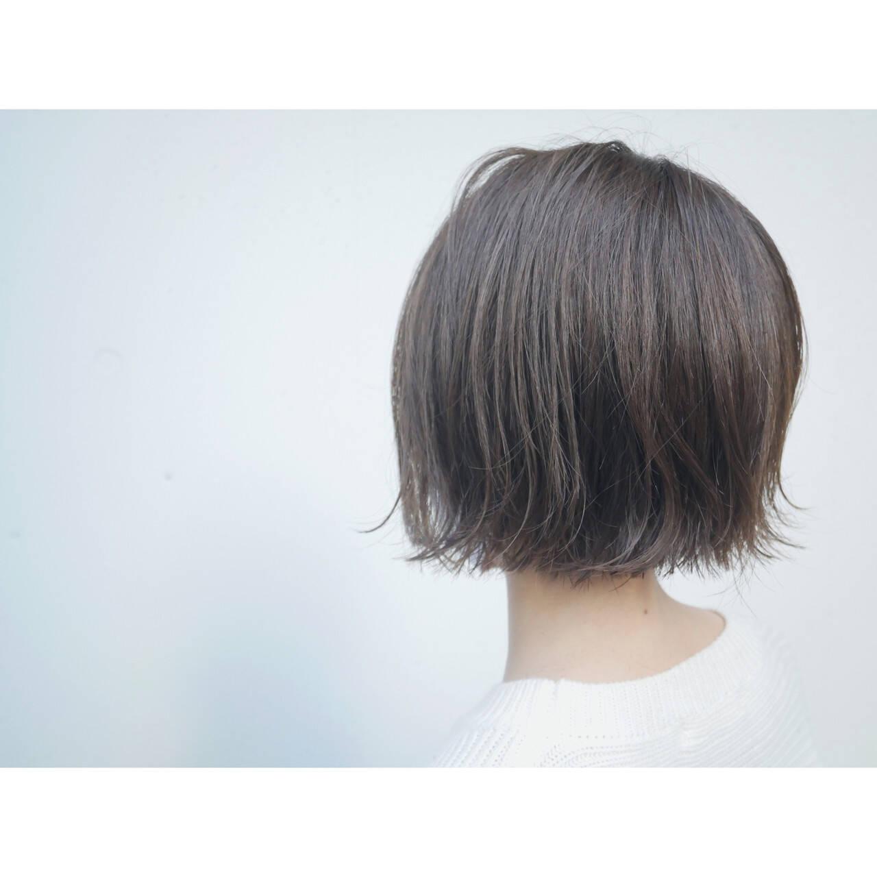 ミニボブ ボブ ショートヘア ショートボブヘアスタイルや髪型の写真・画像