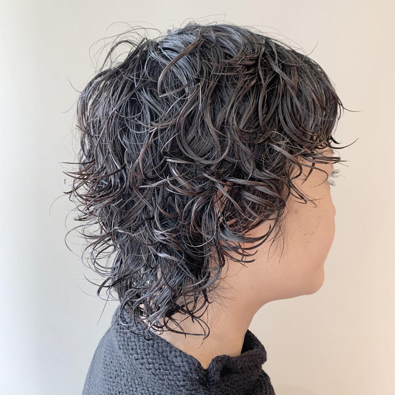ショート パーマ ストリート ベリーショートヘアスタイルや髪型の写真・画像
