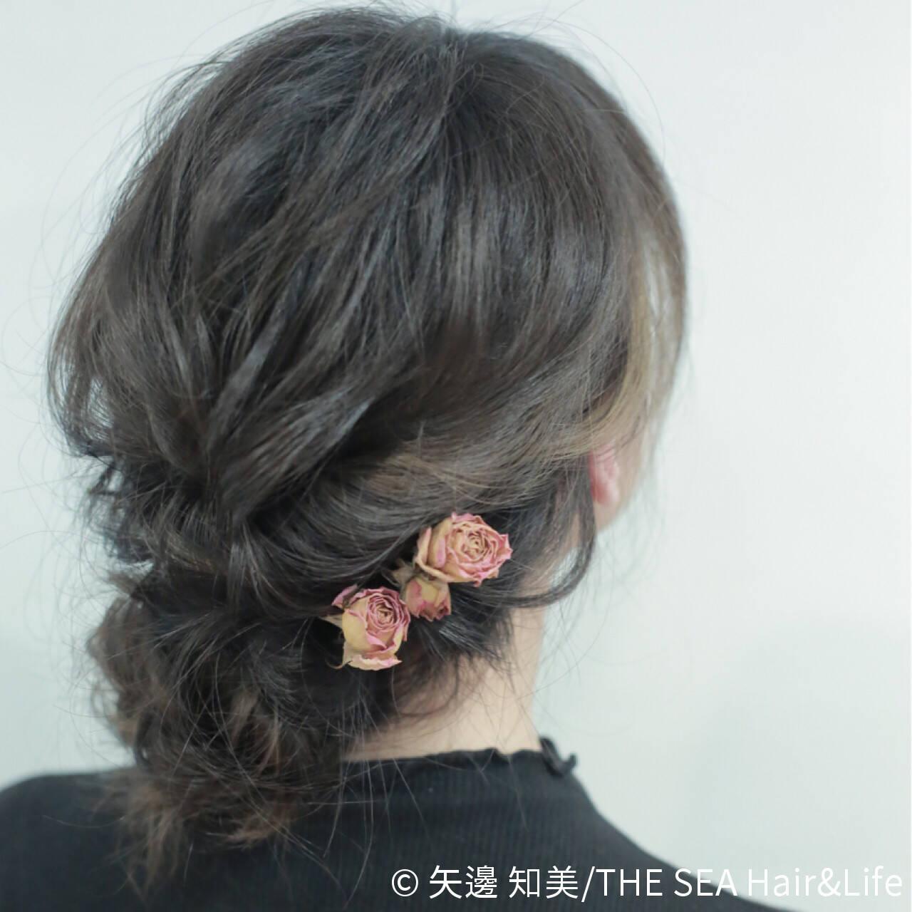 ヘアアレンジ フェミニン 結婚式 大人かわいいヘアスタイルや髪型の写真・画像
