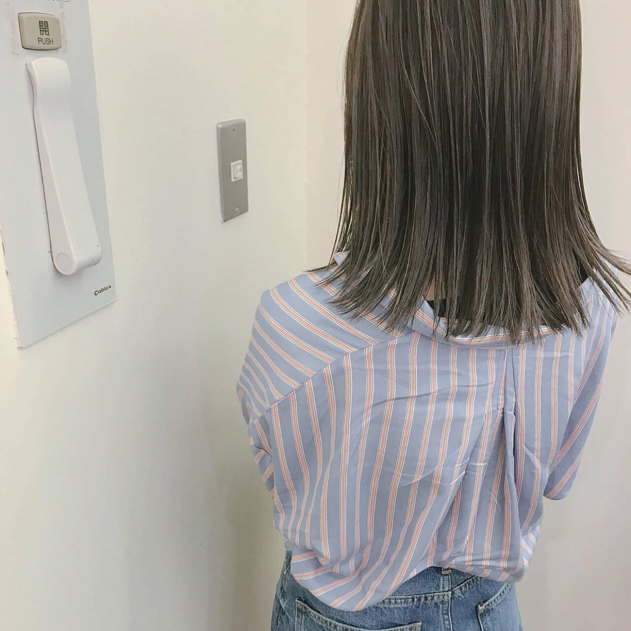 大人かわいい アンニュイ ナチュラル ミディアムヘアスタイルや髪型の写真・画像