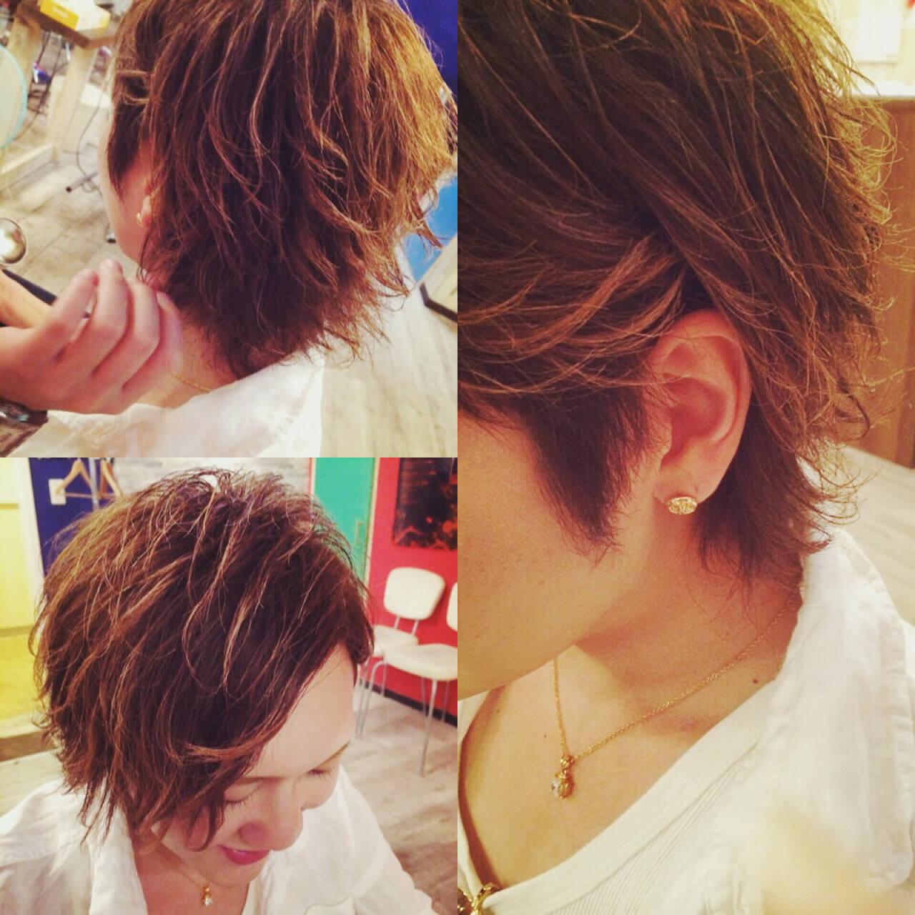 ショート ヘアアレンジ メンズ ボーイッシュヘアスタイルや髪型の写真・画像