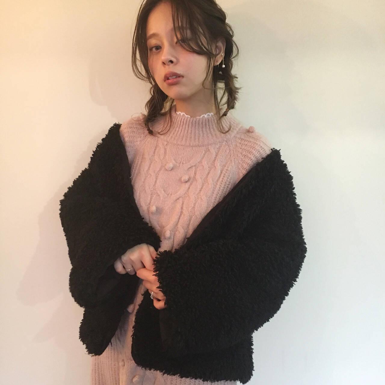 結婚式 謝恩会 ハイライト フェミニンヘアスタイルや髪型の写真・画像