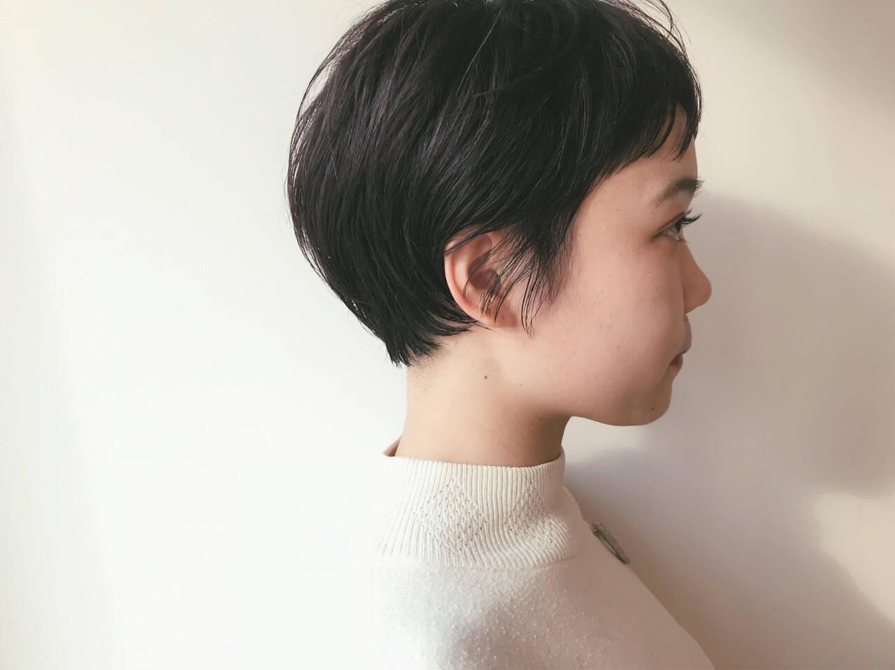 ナチュラル ショート ショートボブヘアスタイルや髪型の写真・画像