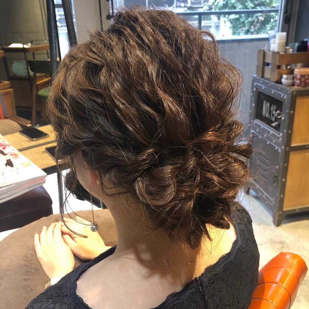 結婚式アレンジ 二次会ヘア ナチュラル 二次会アレンジヘアスタイルや髪型の写真・画像