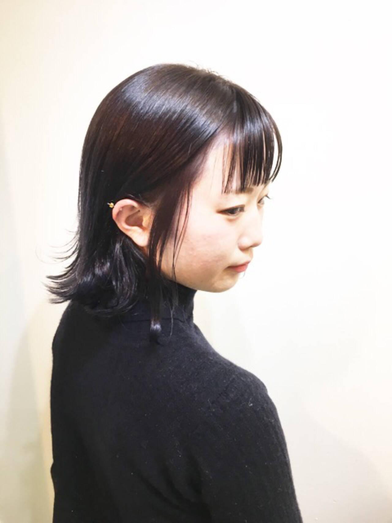 ボブ 小顔 色気 ナチュラルヘアスタイルや髪型の写真・画像