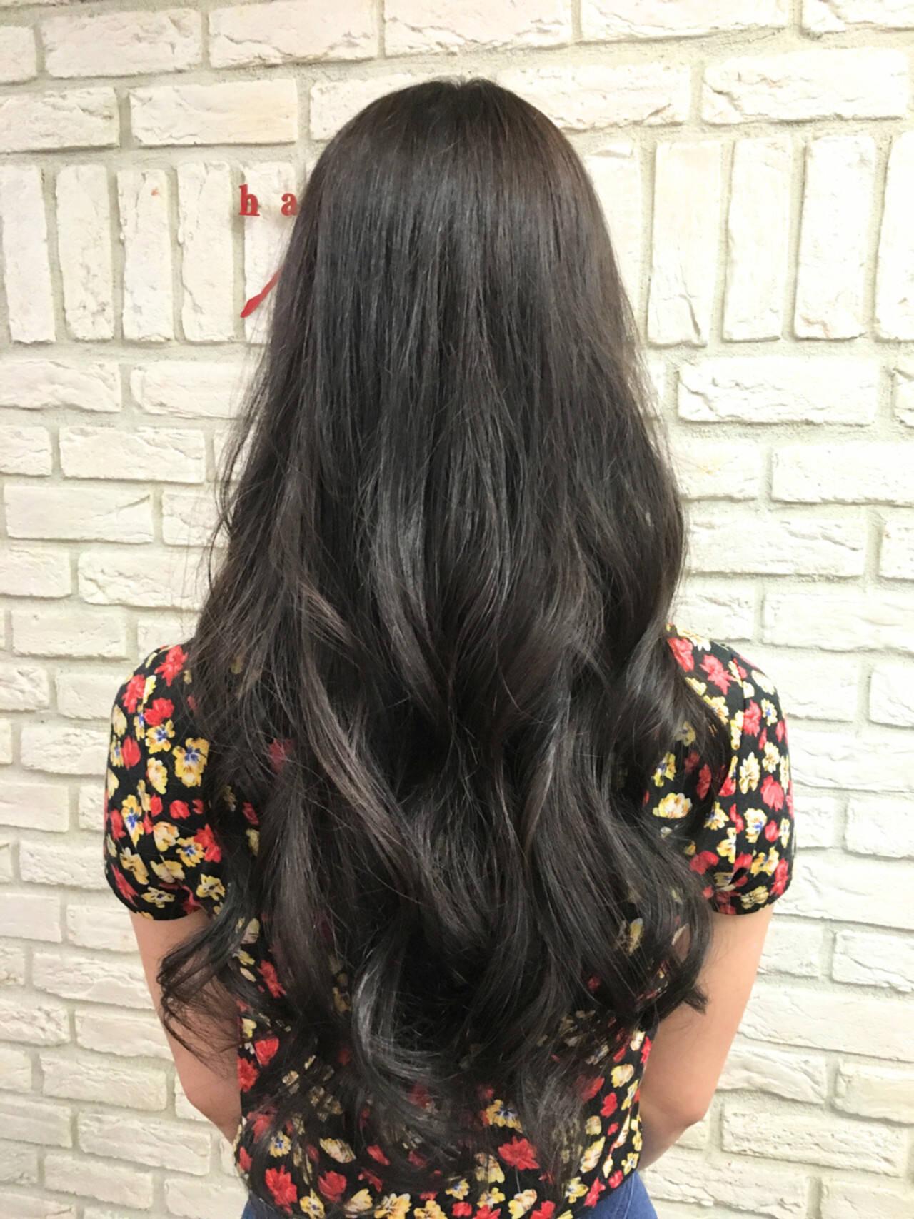コンサバ イルミナカラー ロング 外国人風ヘアスタイルや髪型の写真・画像