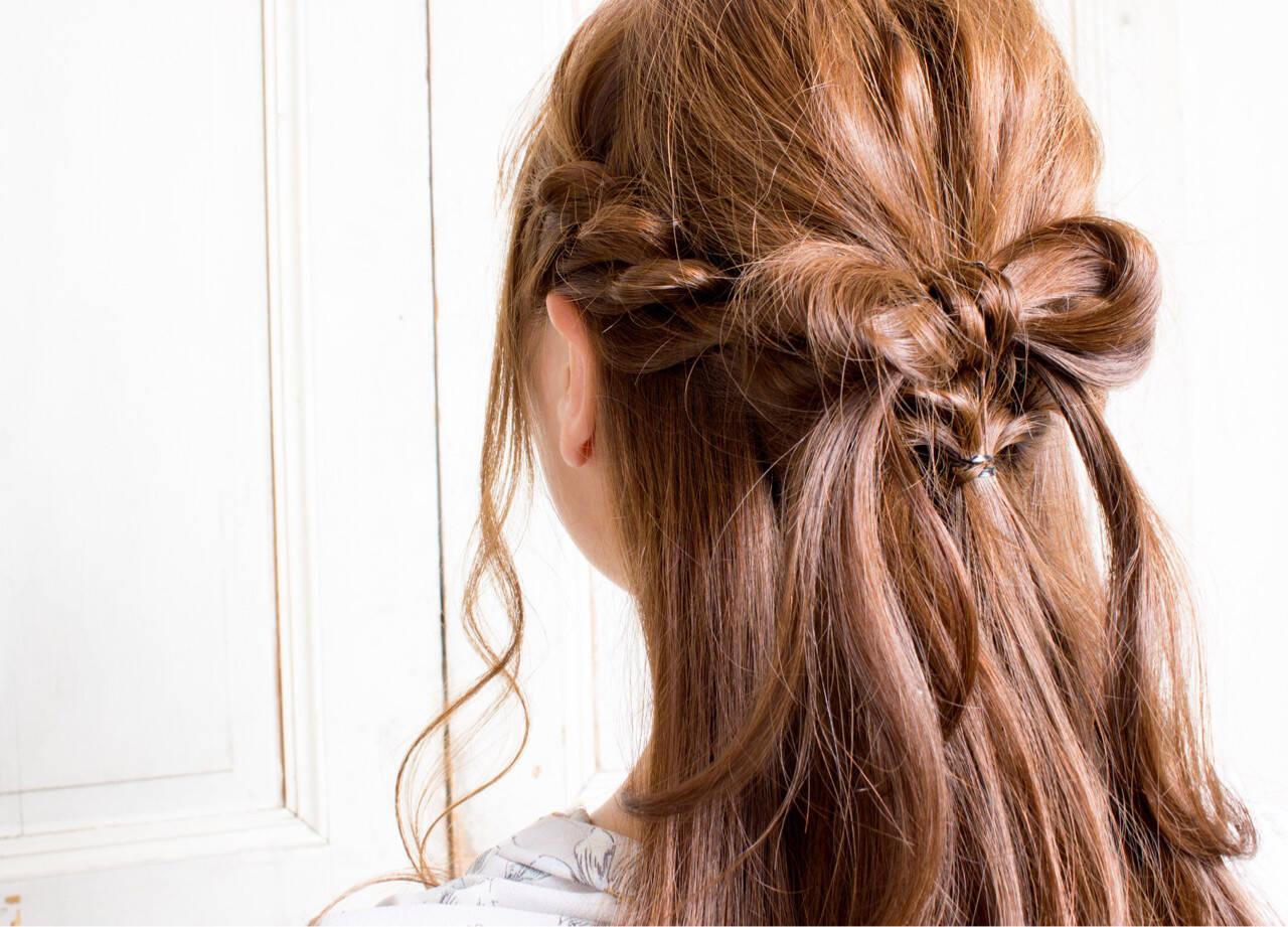 編み込み ヘアアレンジ ロング ツイストヘアスタイルや髪型の写真・画像