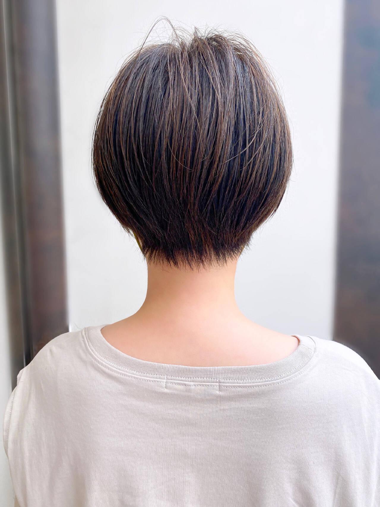 大人かわいい 簡単スタイリング ショートヘア ショートボブヘアスタイルや髪型の写真・画像
