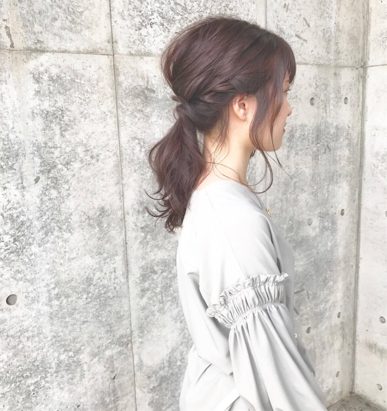 ヘアアレンジ ショート 簡単 ナチュラルヘアスタイルや髪型の写真・画像