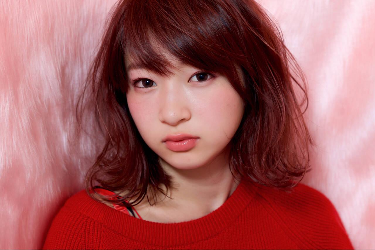 女子力 ストリート ガーリー ピンクヘアスタイルや髪型の写真・画像