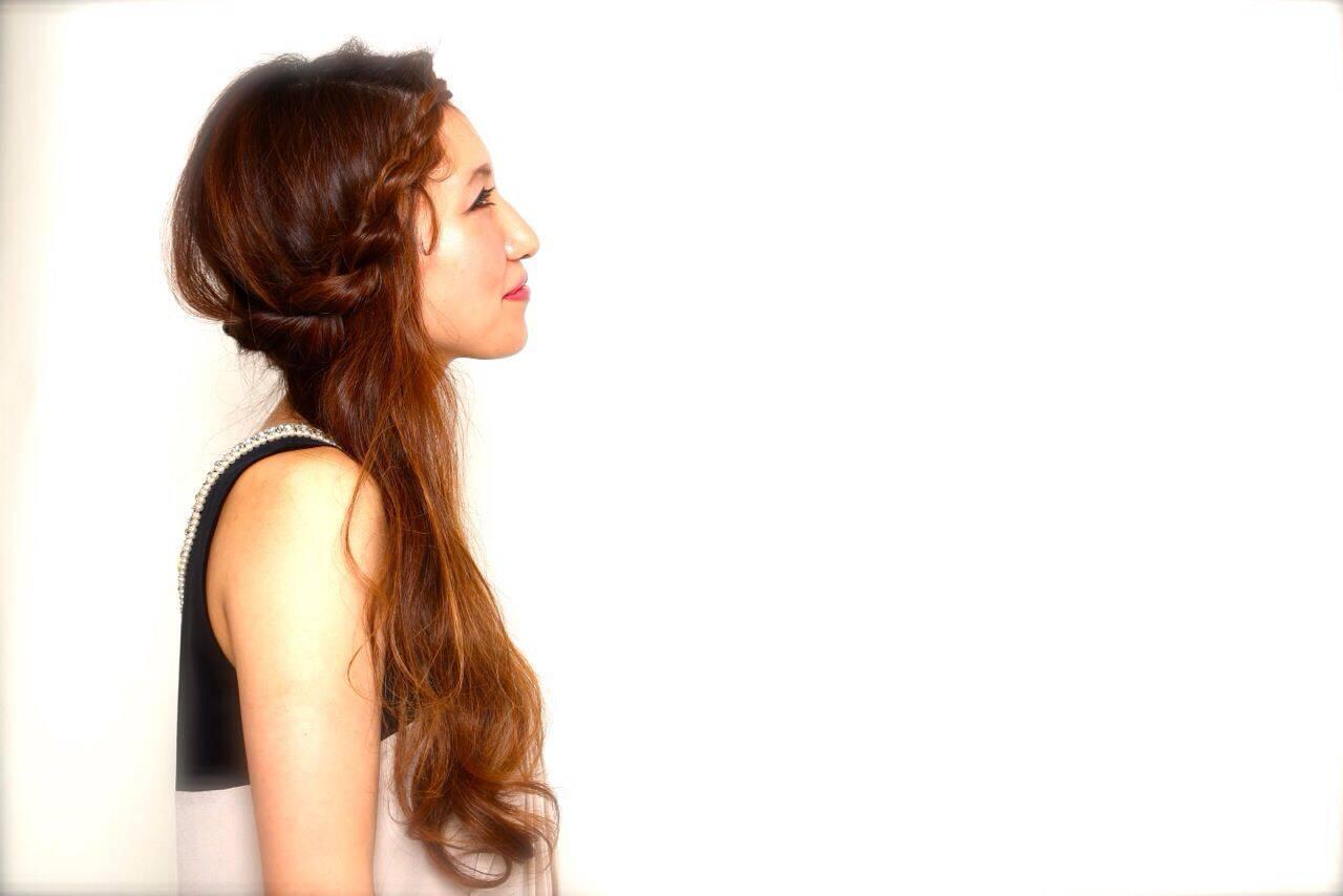 アップスタイル ヘアアレンジ ロング パーティヘアスタイルや髪型の写真・画像