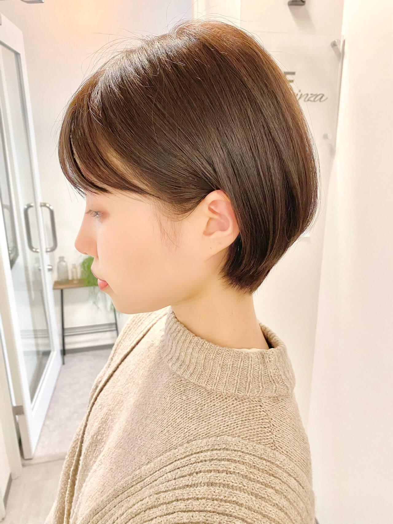 ベリーショート デート 大人かわいい ゆるふわヘアスタイルや髪型の写真・画像