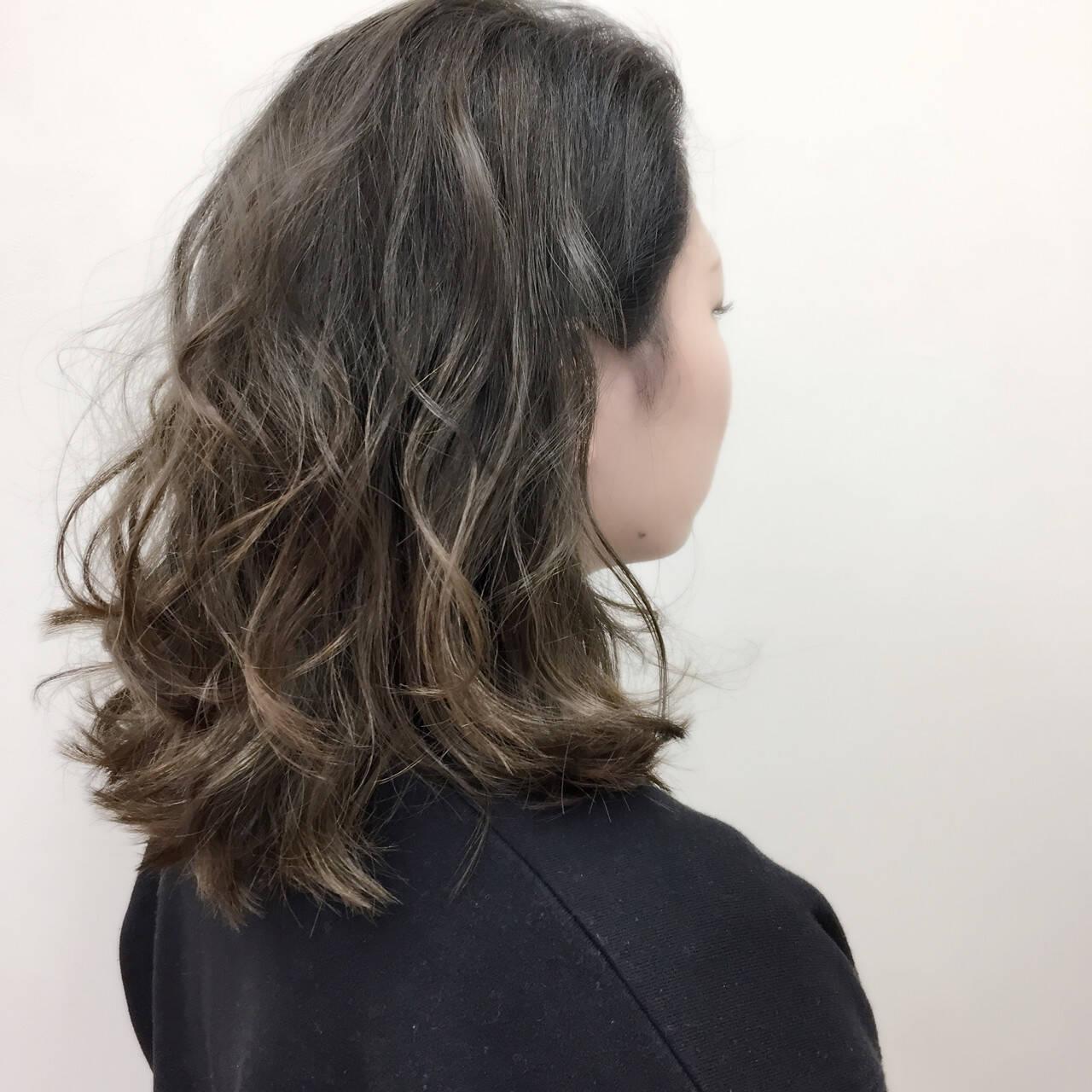 グラデーションカラー 外国人風カラー エレガント 大人かわいいヘアスタイルや髪型の写真・画像