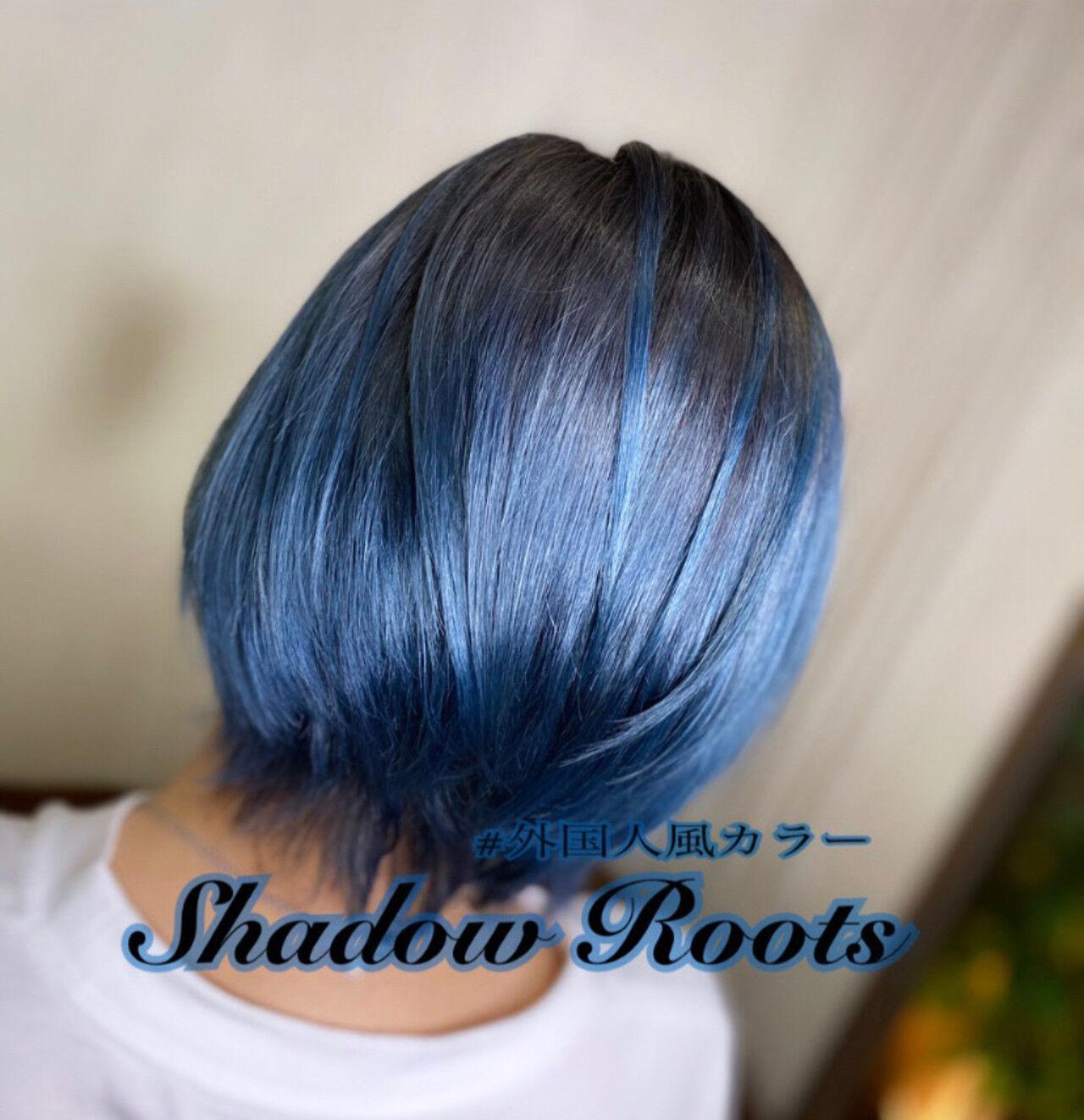 モード ショートヘア グラデーションカラー ボブヘアスタイルや髪型の写真・画像