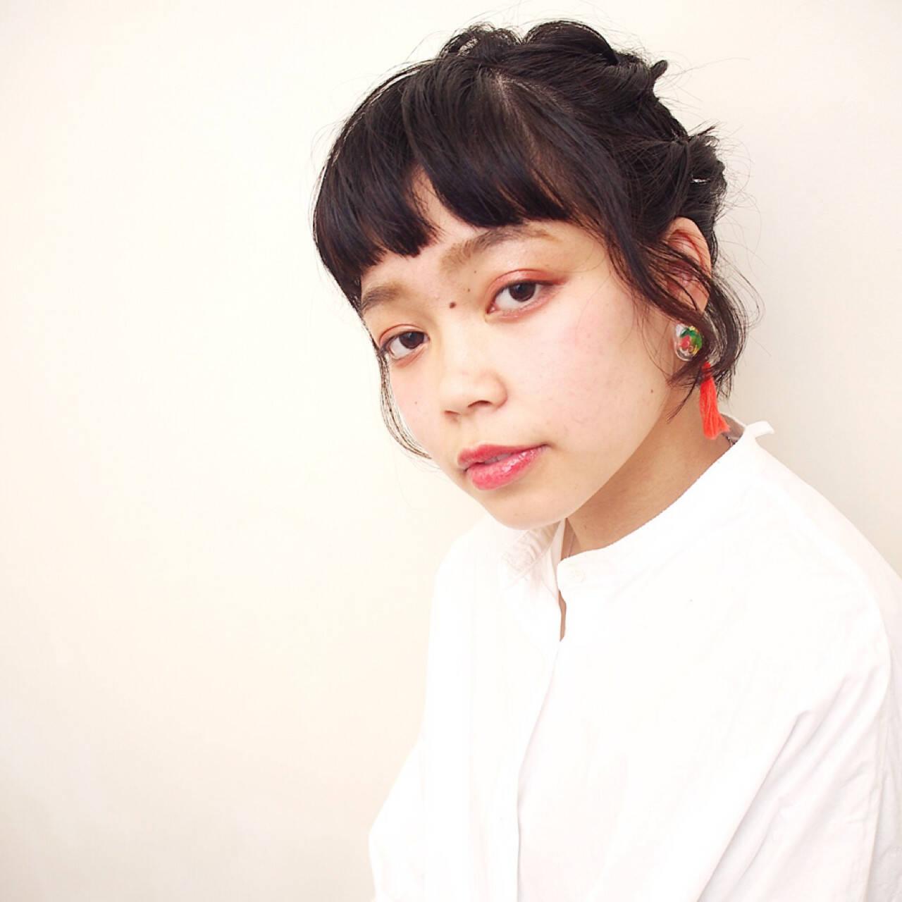 ヘアアレンジ デート 女子会 ガーリーヘアスタイルや髪型の写真・画像