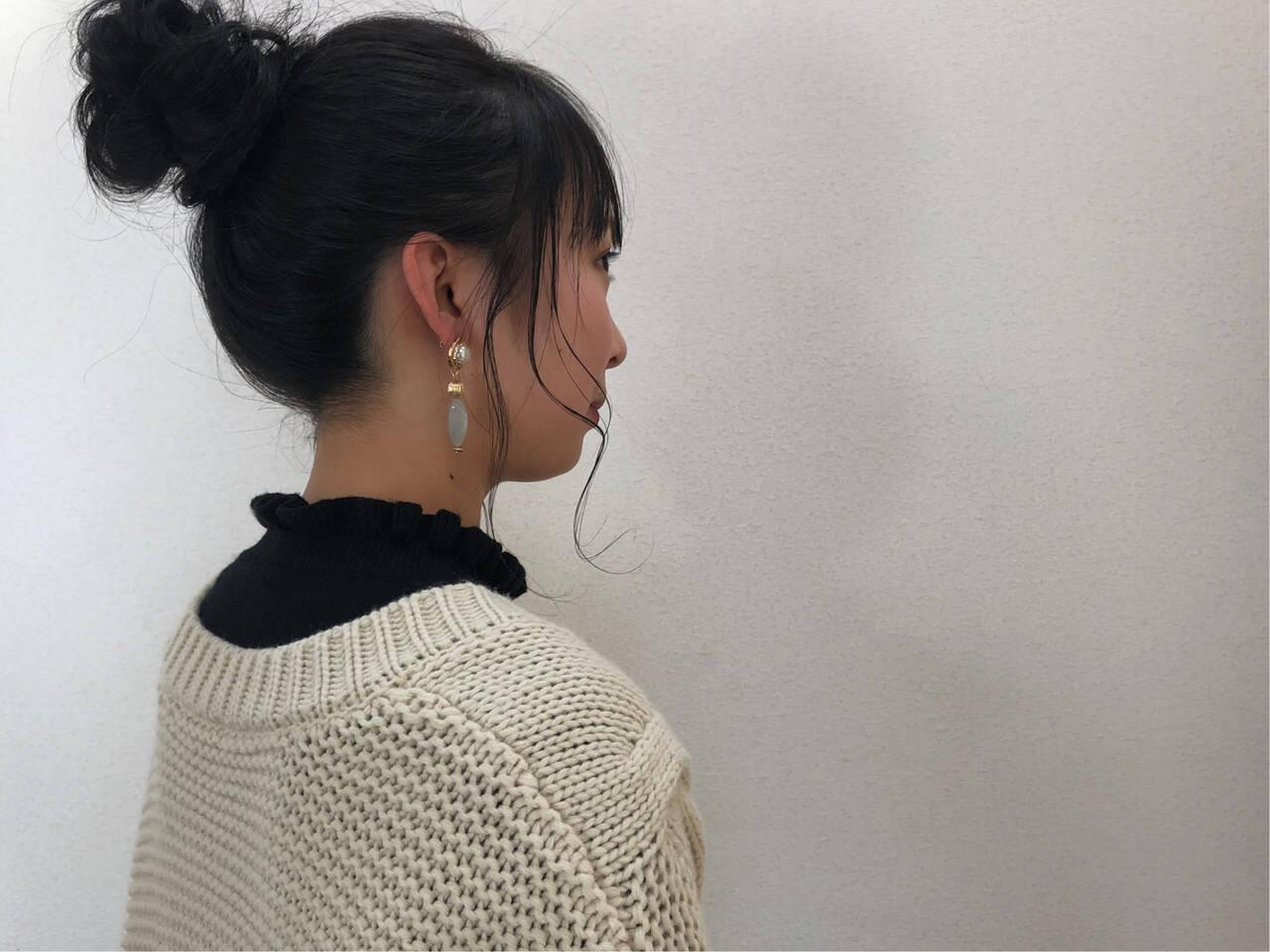 ナチュラル ヘアアレンジ 簡単ヘアアレンジ 成人式ヘアスタイルや髪型の写真・画像