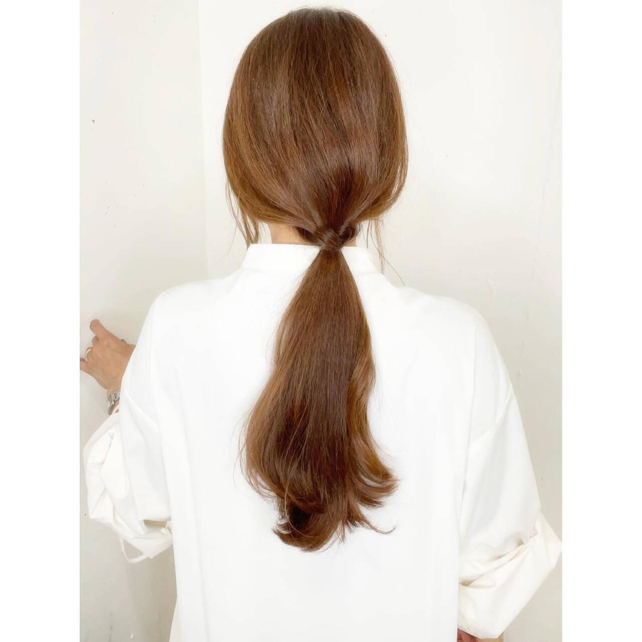 ナチュラル セルフアレンジ セルフヘアアレンジ ロングヘアスタイルや髪型の写真・画像