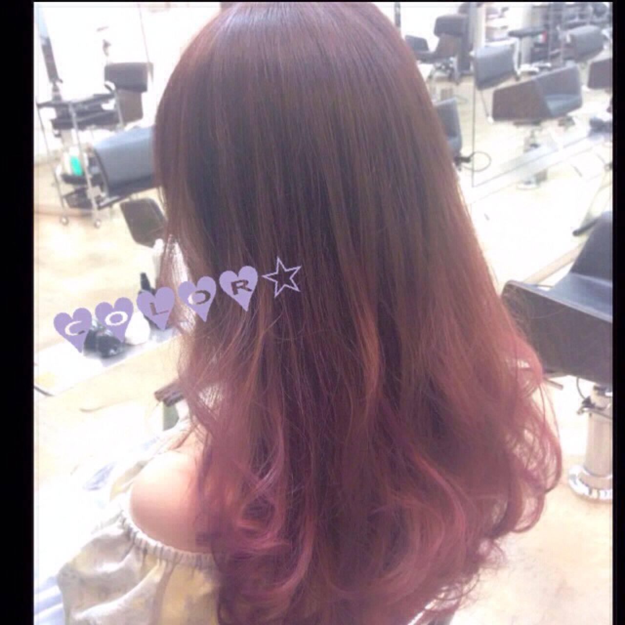 ゆるふわ ガーリー ピンク ストリートヘアスタイルや髪型の写真・画像