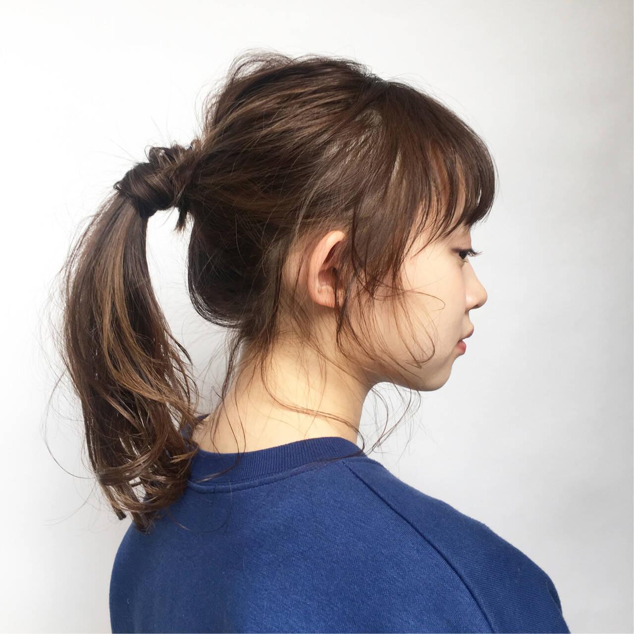 セミロング ヘアアレンジ 簡単ヘアアレンジ デートヘアスタイルや髪型の写真・画像