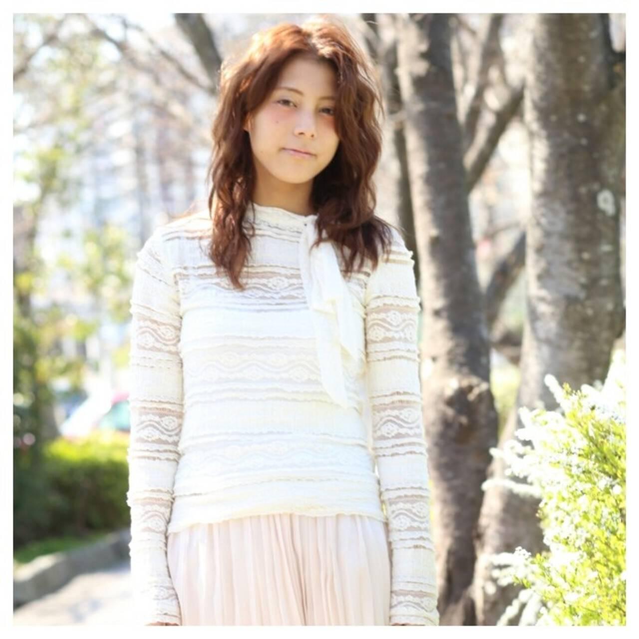 外国人風 大人かわいい ゆるふわ ガーリーヘアスタイルや髪型の写真・画像