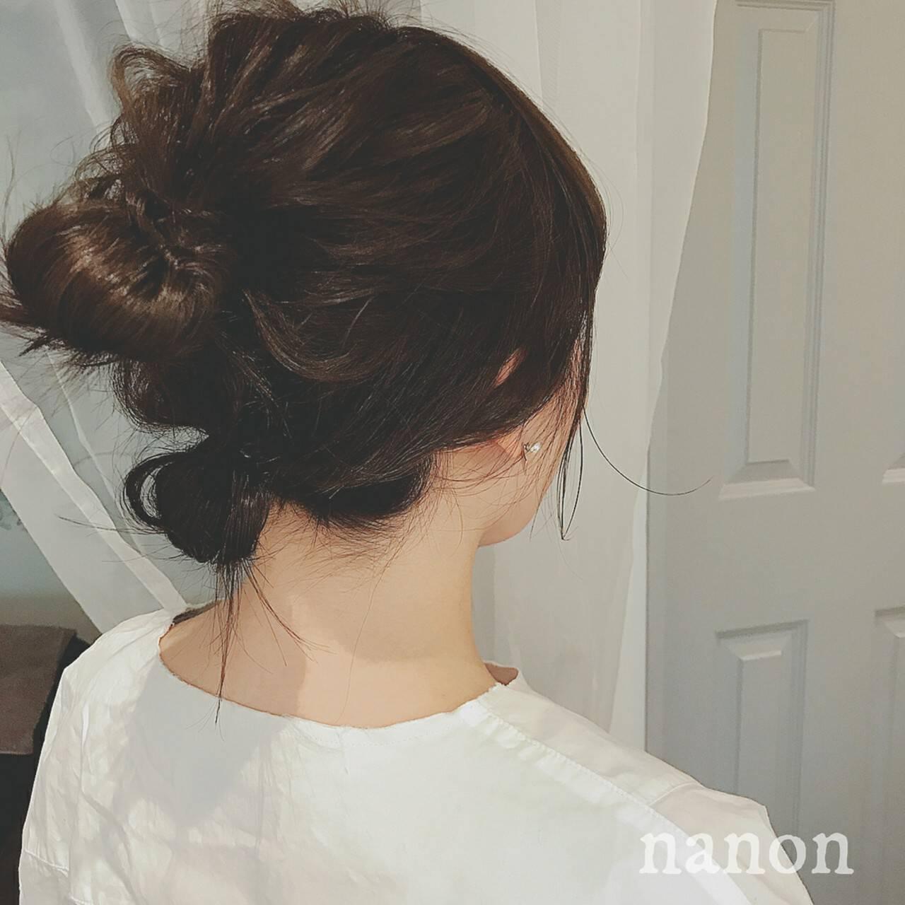 大人かわいい パーティ ミディアム ゆるふわヘアスタイルや髪型の写真・画像