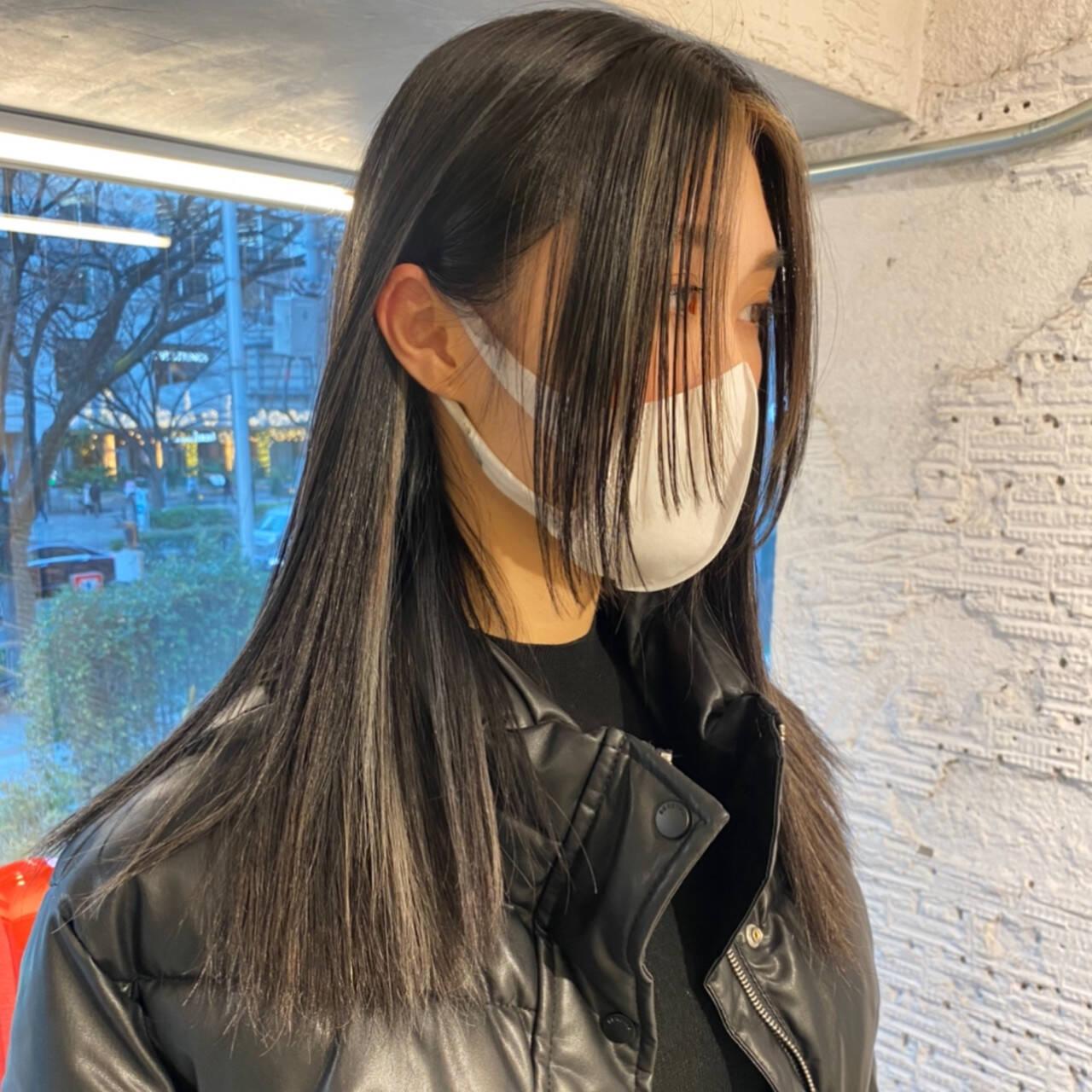 ブロンドカラー インナーカラー ストリート ハイトーンカラーヘアスタイルや髪型の写真・画像