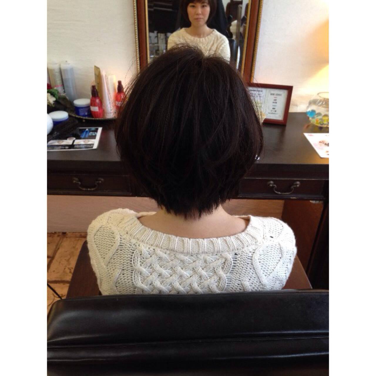 小顔 ゆるふわ 似合わせ 黒髪ヘアスタイルや髪型の写真・画像