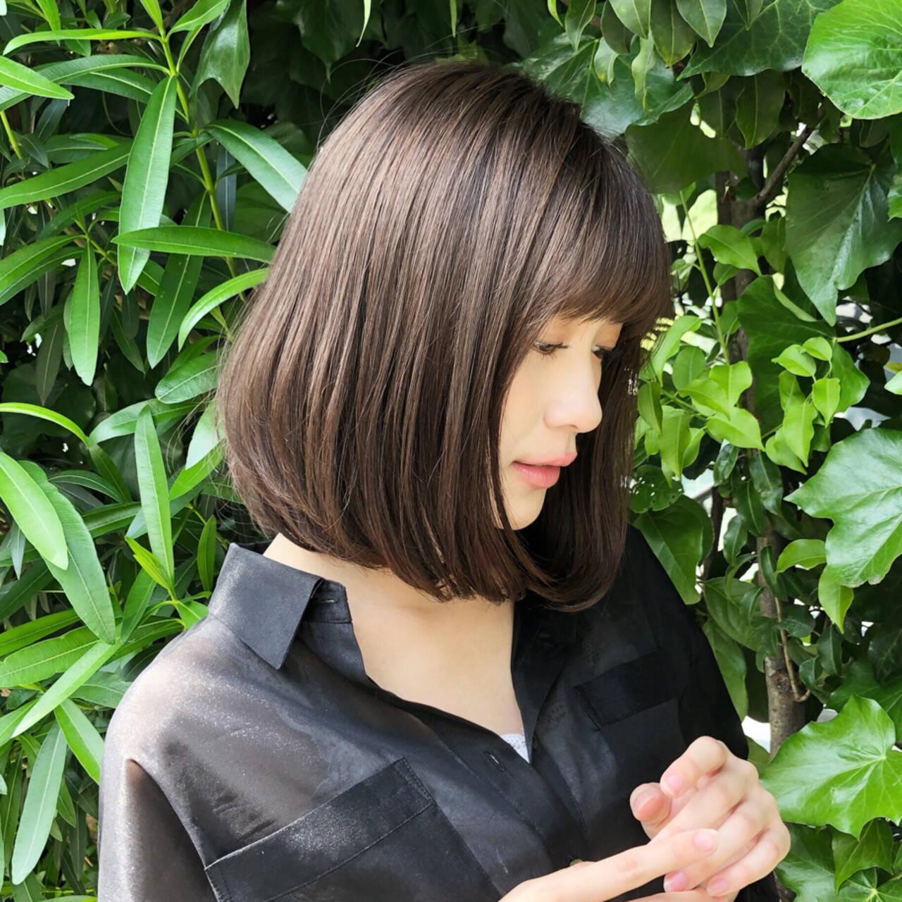ハイライト デート 大人女子 ボブヘアスタイルや髪型の写真・画像