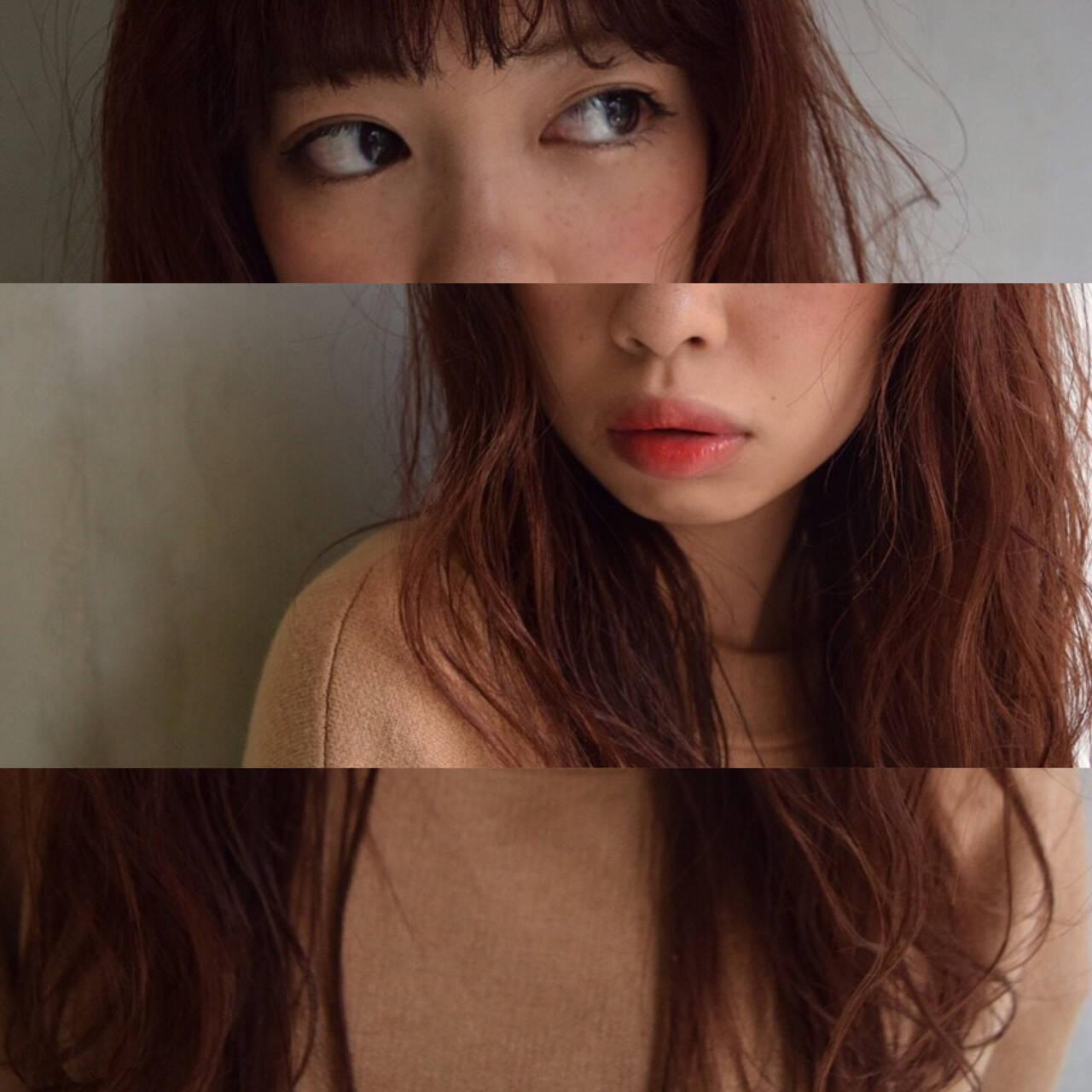 ロング グラデーションカラー ガーリー 外国人風ヘアスタイルや髪型の写真・画像