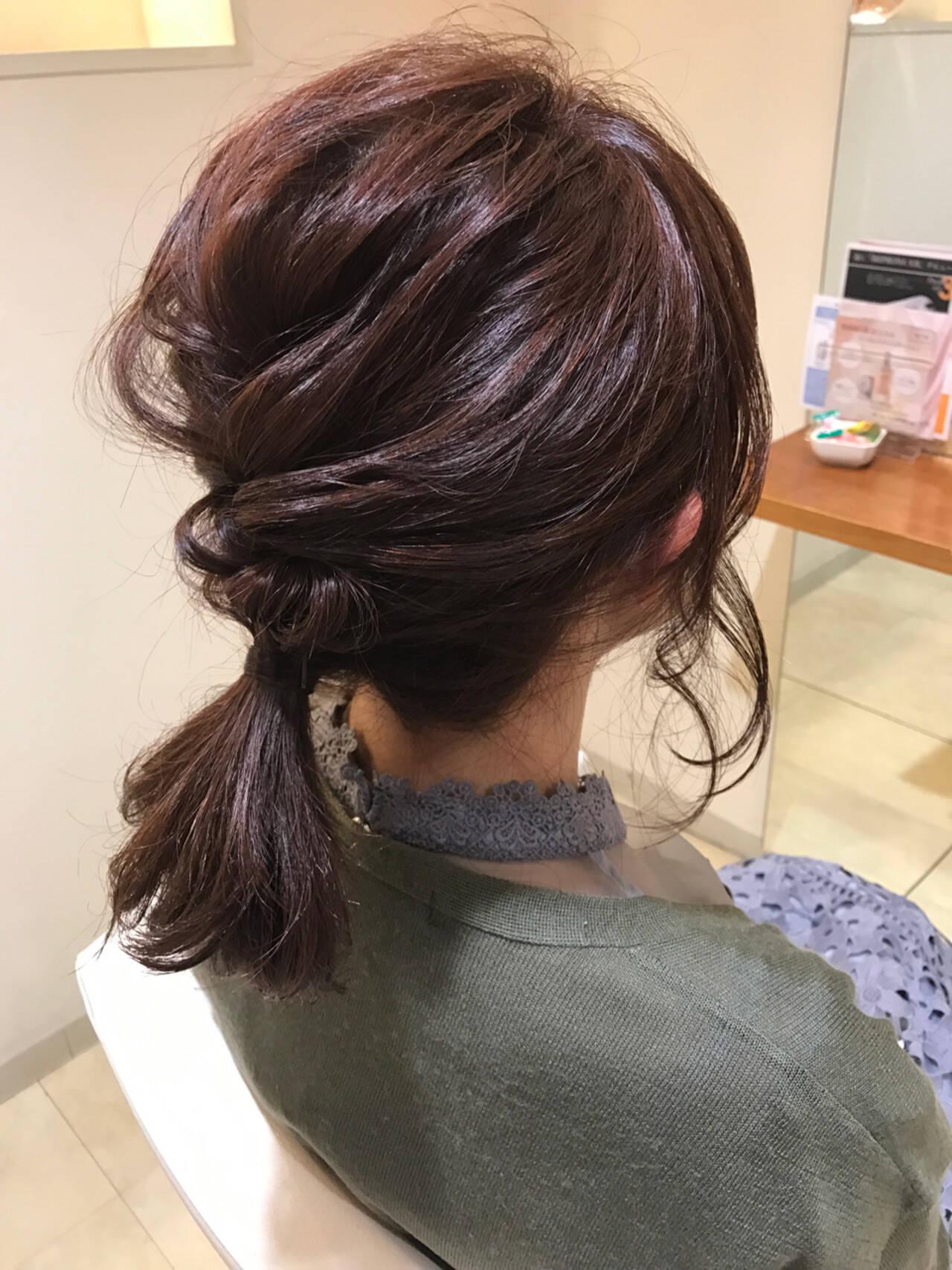 簡単ヘアアレンジ ハーフアップ ガーリー 編み込みヘアスタイルや髪型の写真・画像