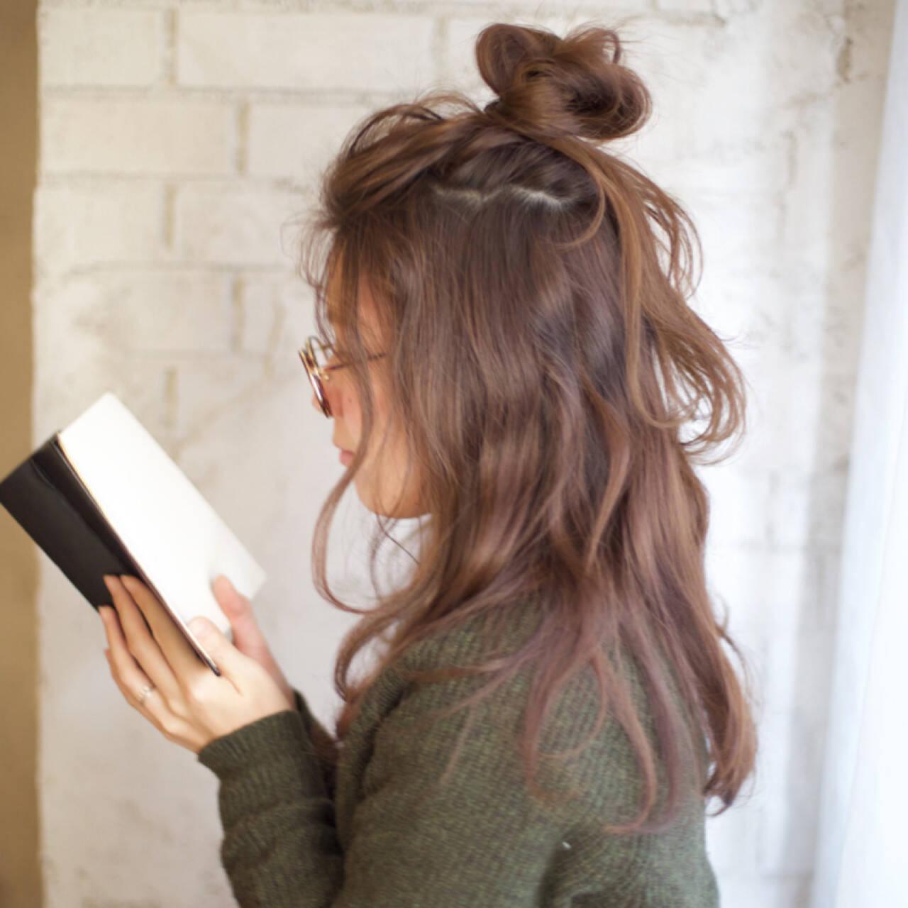 ショート メッシーバン 外国人風 簡単ヘアアレンジヘアスタイルや髪型の写真・画像