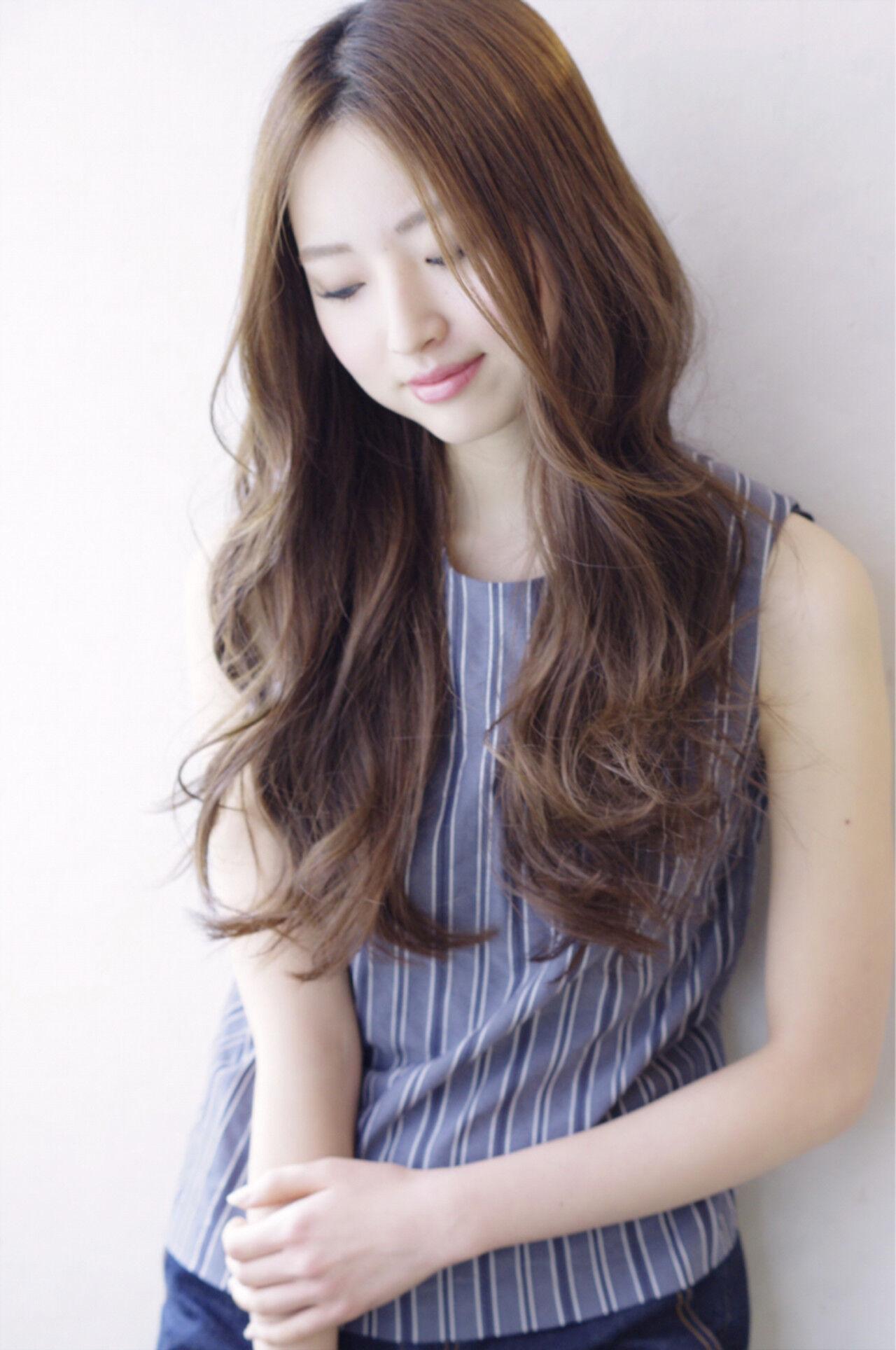 ガーリー ゆるふわ 大人かわいい フェミニンヘアスタイルや髪型の写真・画像