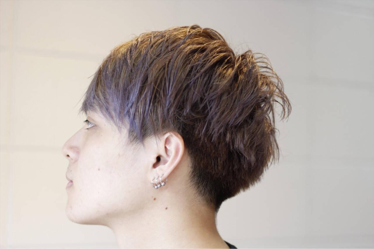 マッシュ アッシュ ボーイッシュ ストリートヘアスタイルや髪型の写真・画像