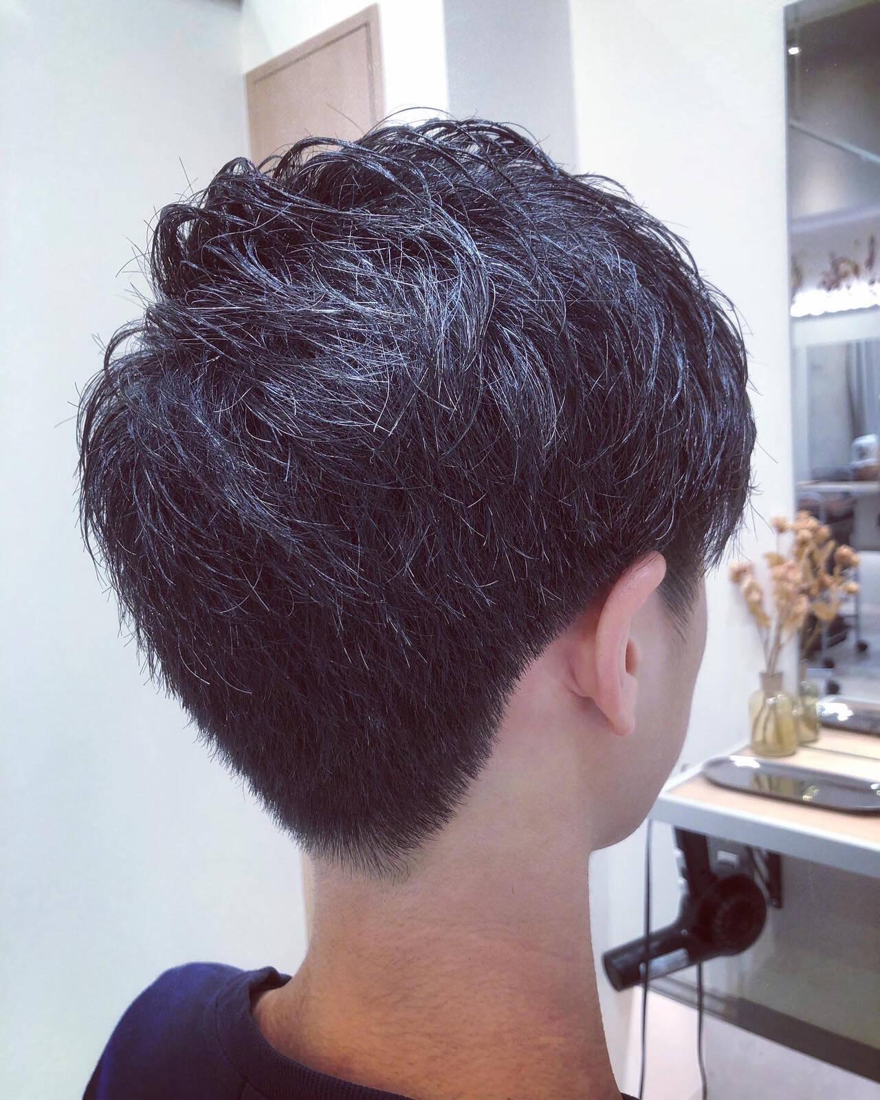 ショート ナチュラル メンズヘア メンズショートヘアスタイルや髪型の写真・画像