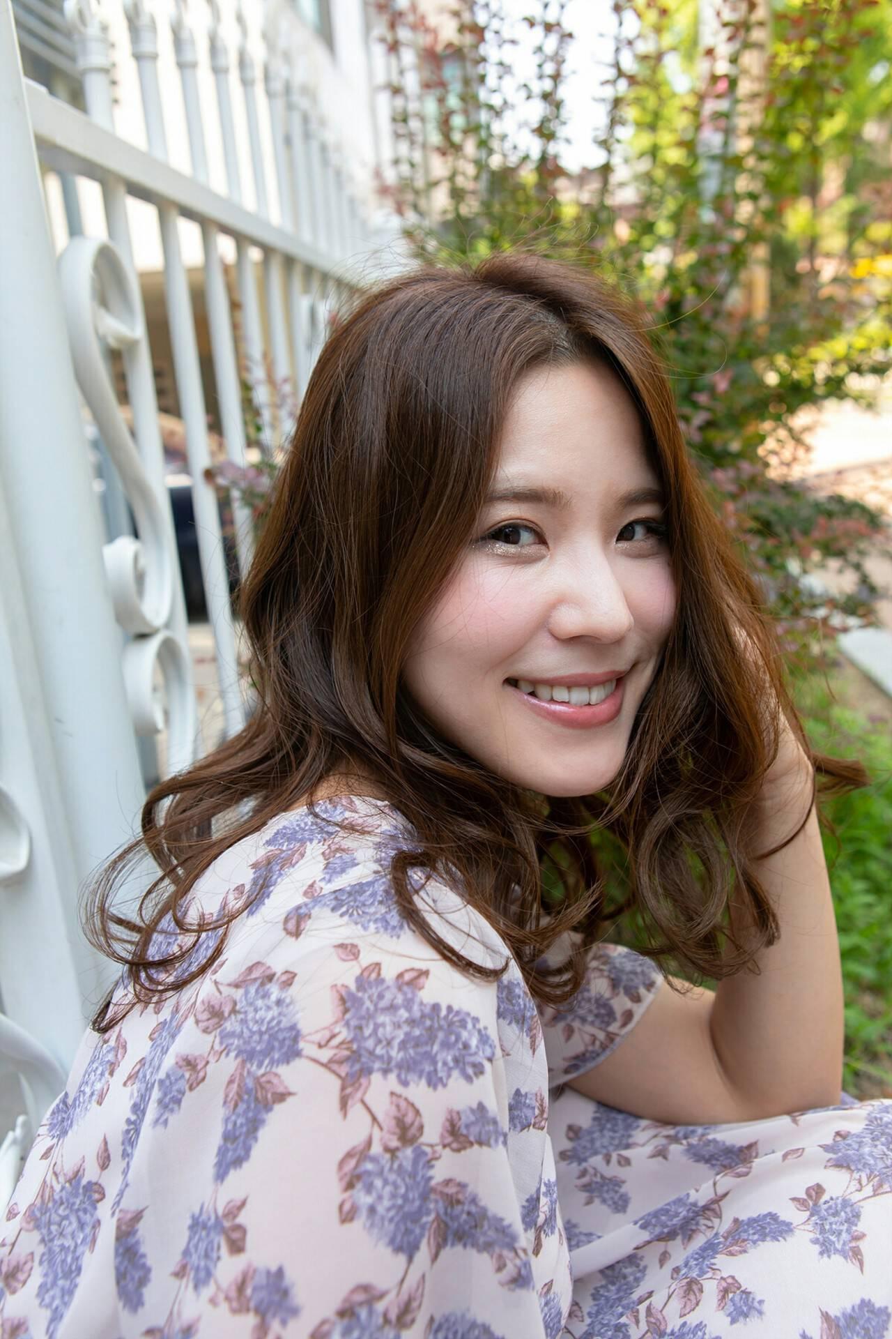 韓国風ヘアー パーマ 韓国ヘア ロングヘアスタイルや髪型の写真・画像