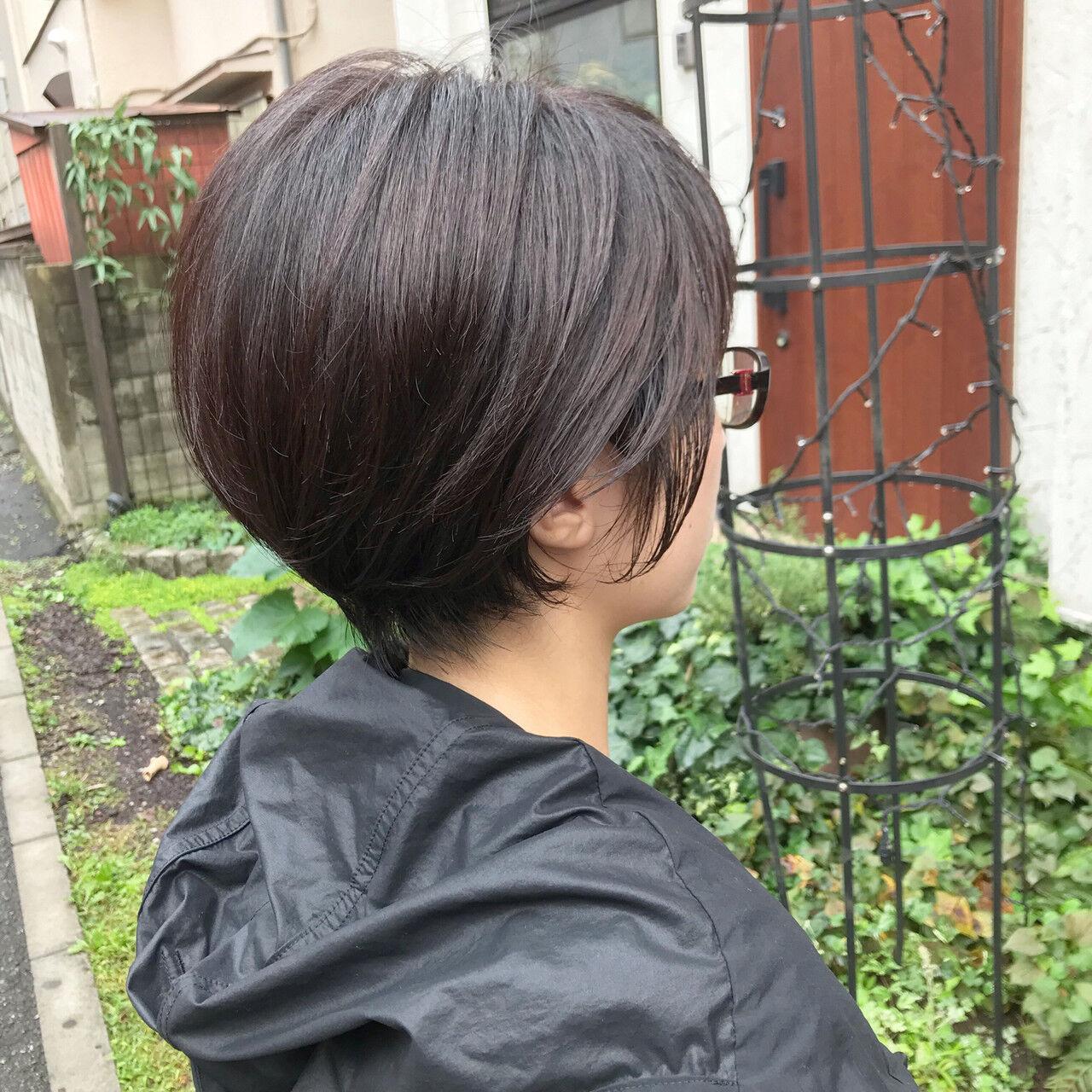 ショートヘア ナチュラル ミニボブ ショートヘアスタイルや髪型の写真・画像